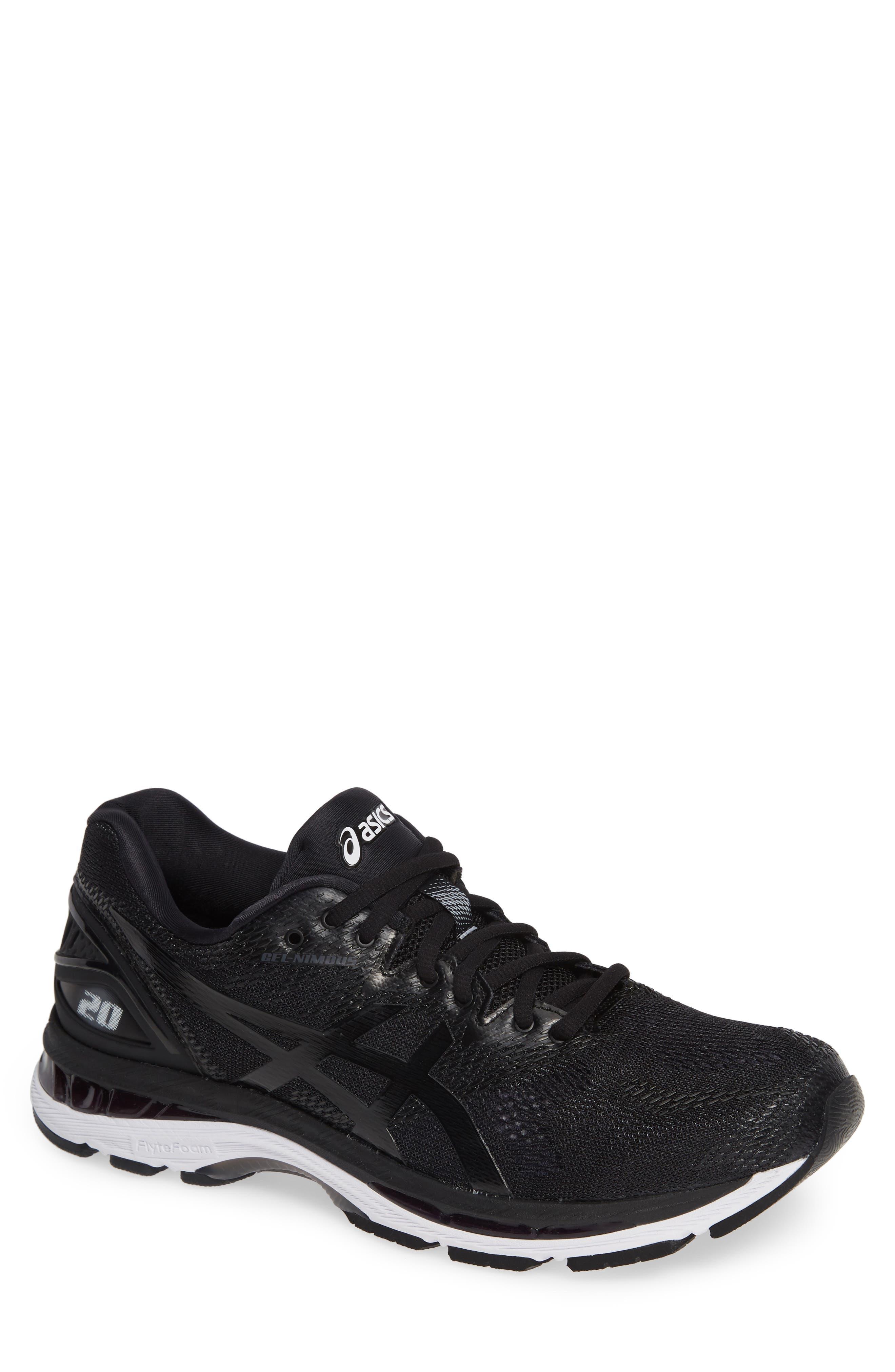 GEL<sup>®</sup>-Nimbus 20 Running Shoe,                         Main,                         color, BLACK/ WHITE/ CARBON