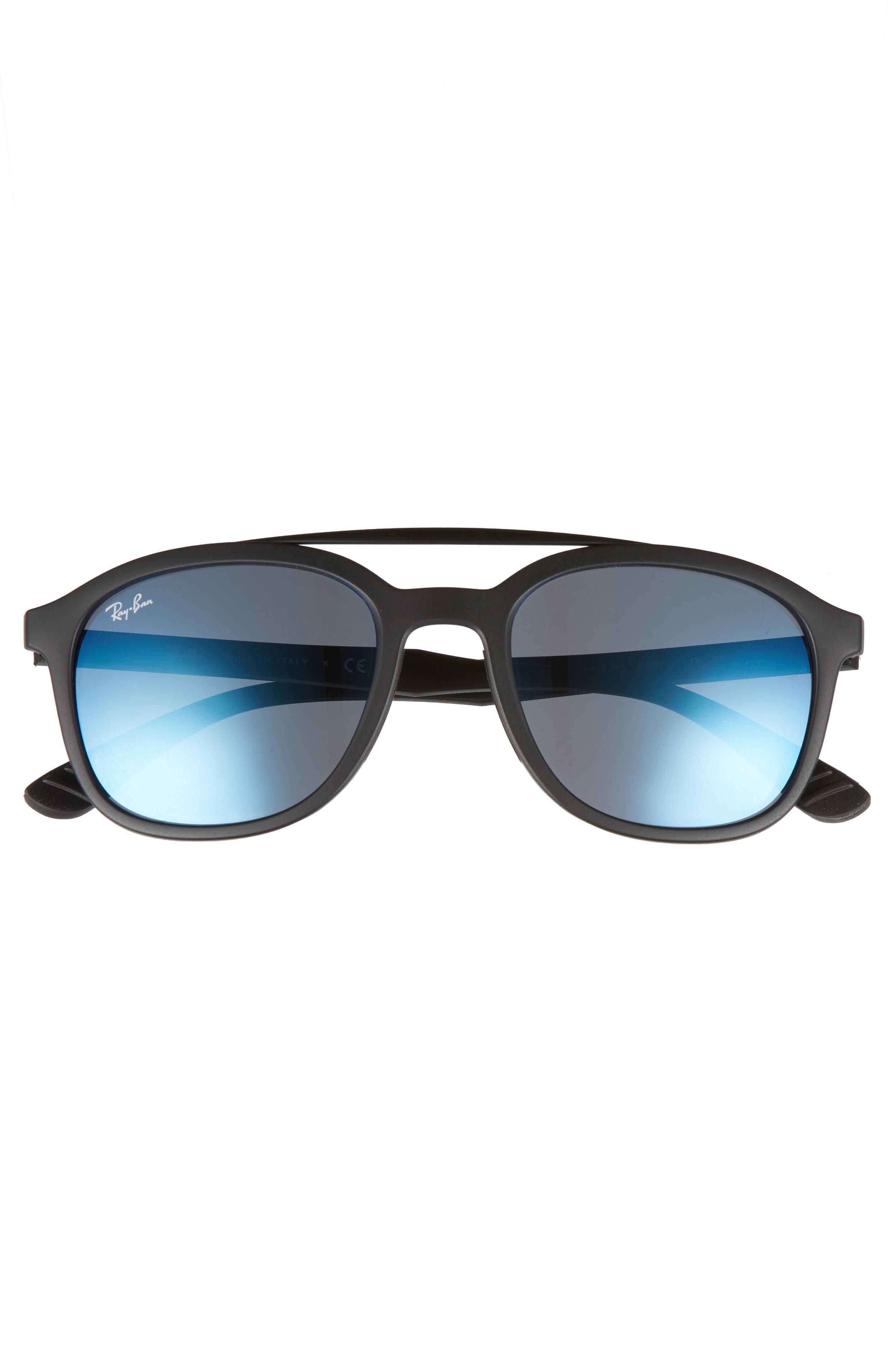 Active Lifestyle 53mm Sunglasses,                             Alternate thumbnail 2, color,                             BLACK/ BLUE