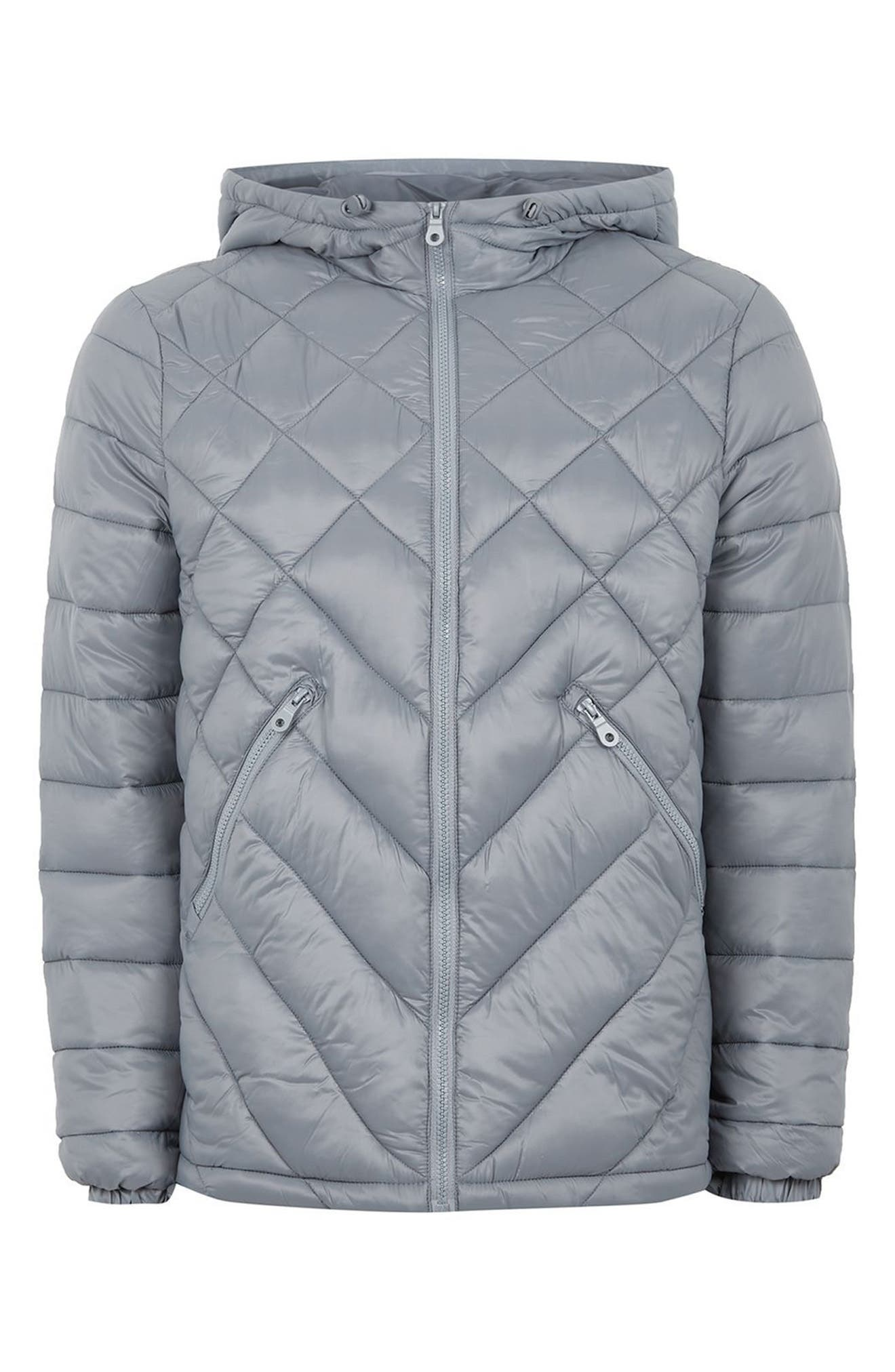 Hooded Quilted Jacket,                             Alternate thumbnail 4, color,                             020