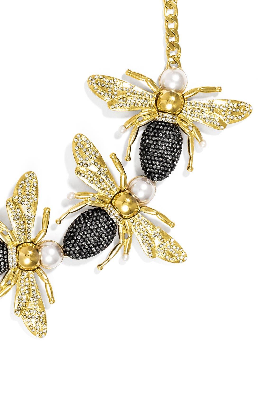 'Queen Bee' Collar Necklace,                             Alternate thumbnail 2, color,                             710