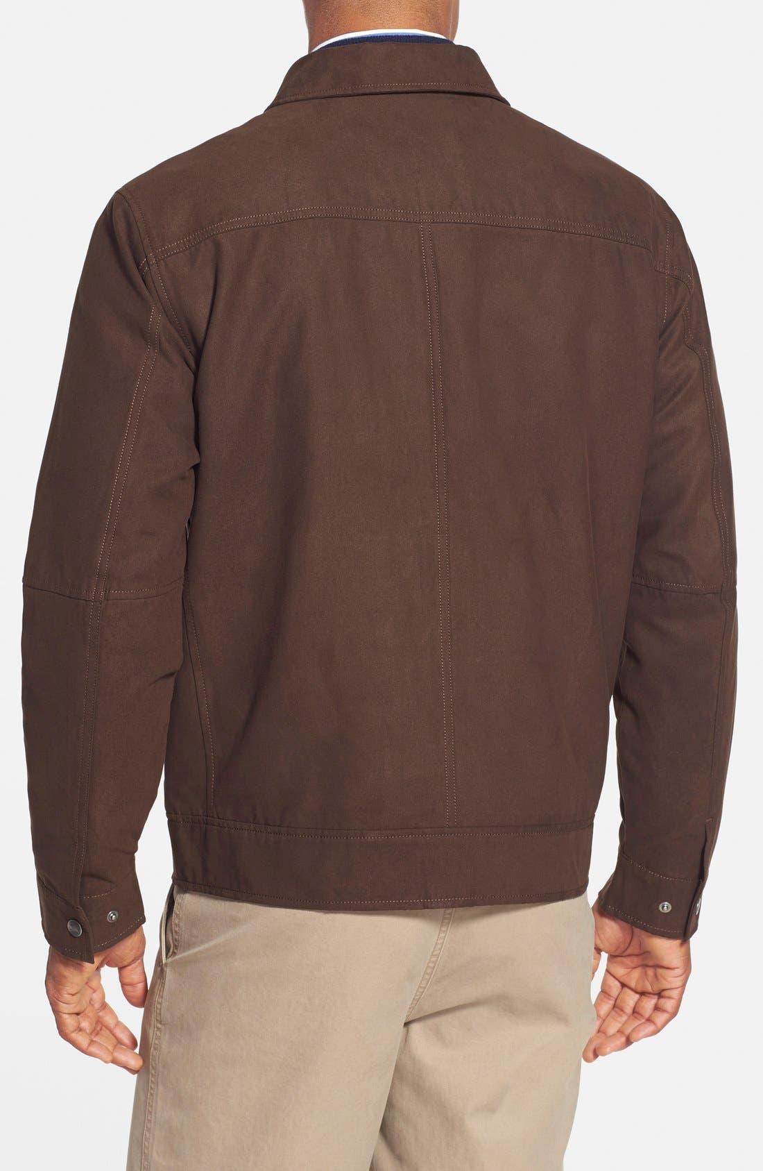 'Roosevelt' Classic Fit Water Resistant Full Zip Jacket,                             Alternate thumbnail 2, color,                             BITTERSWEET BROWN