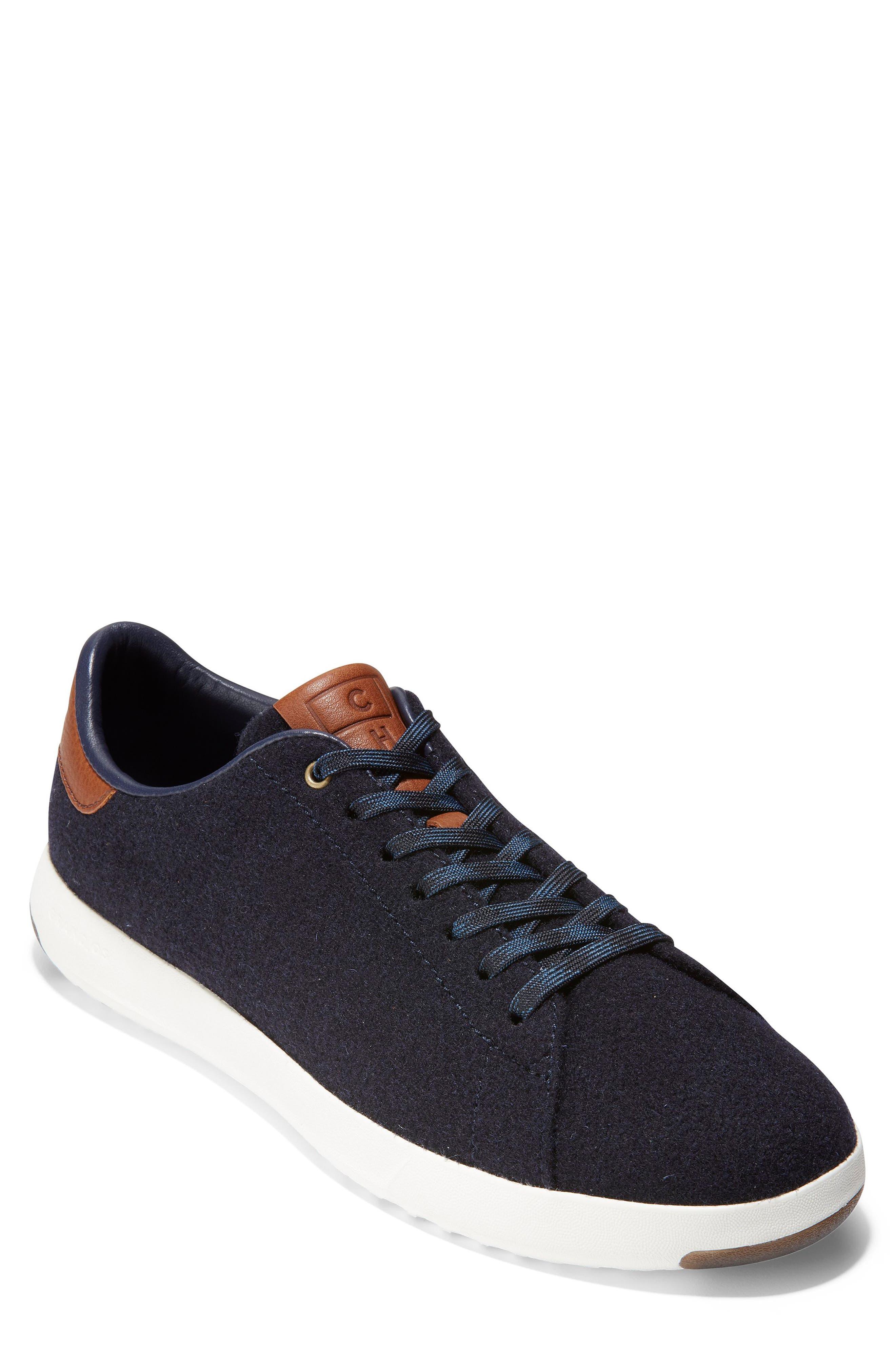 GrandPro Tennis Sneaker,                         Main,                         color, NAVY INK WOOL/ BRITISH TAN