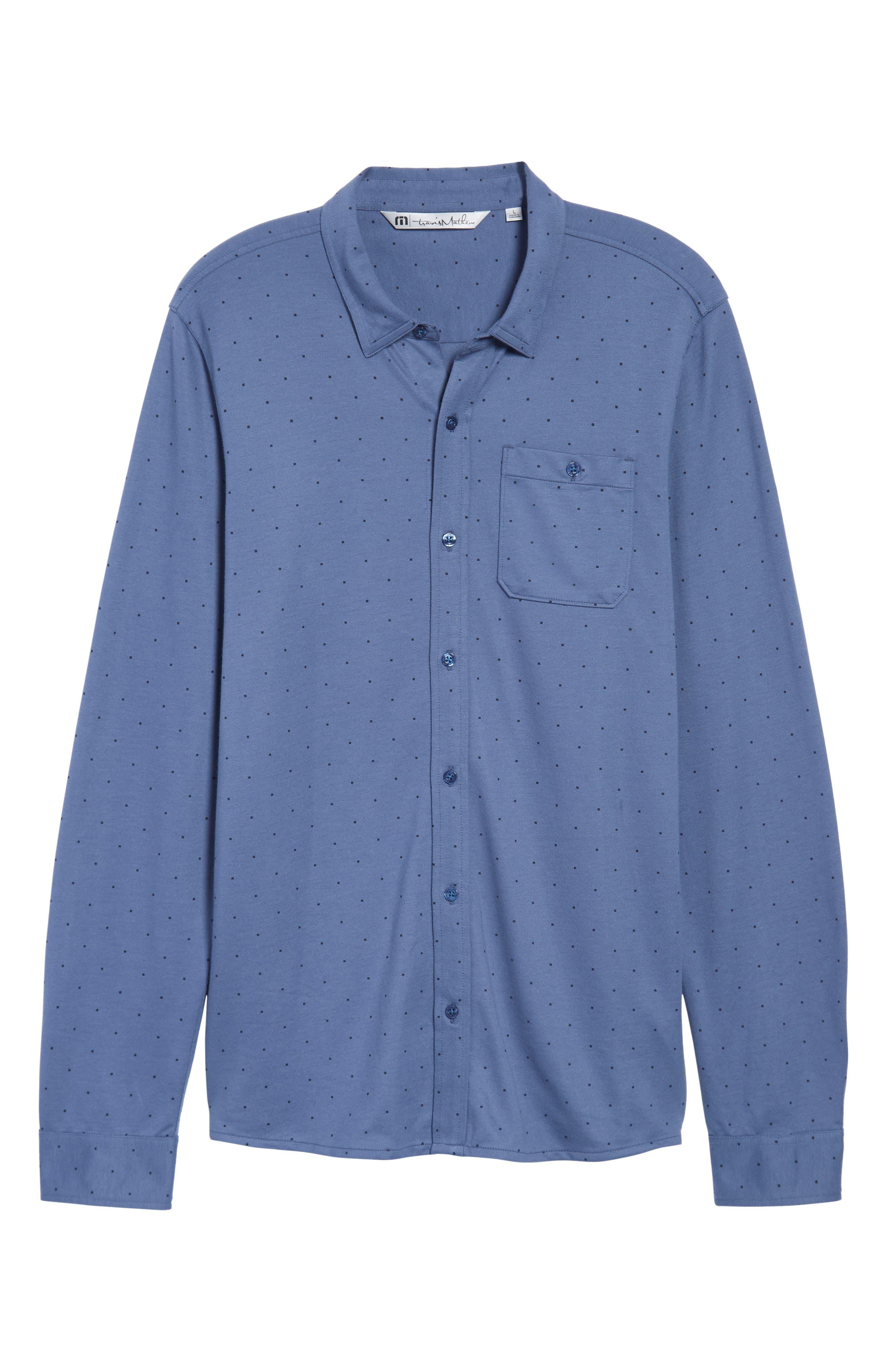 Randy Square Dot Sport Shirt,                             Alternate thumbnail 6, color,                             400