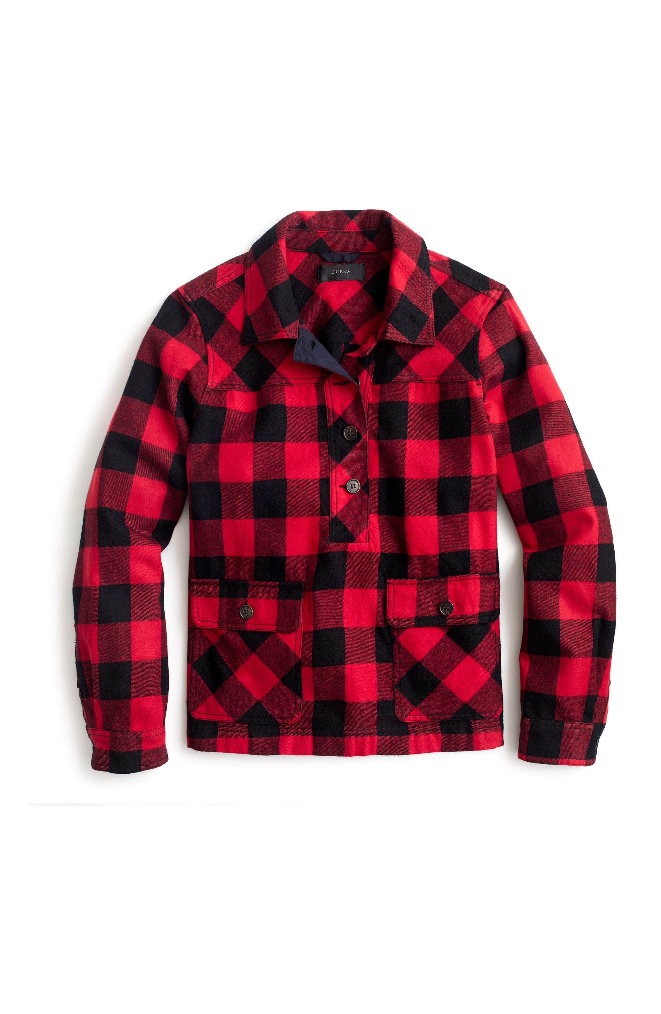 Buffalo Check Shirt Jacket,                             Alternate thumbnail 3, color,                             601