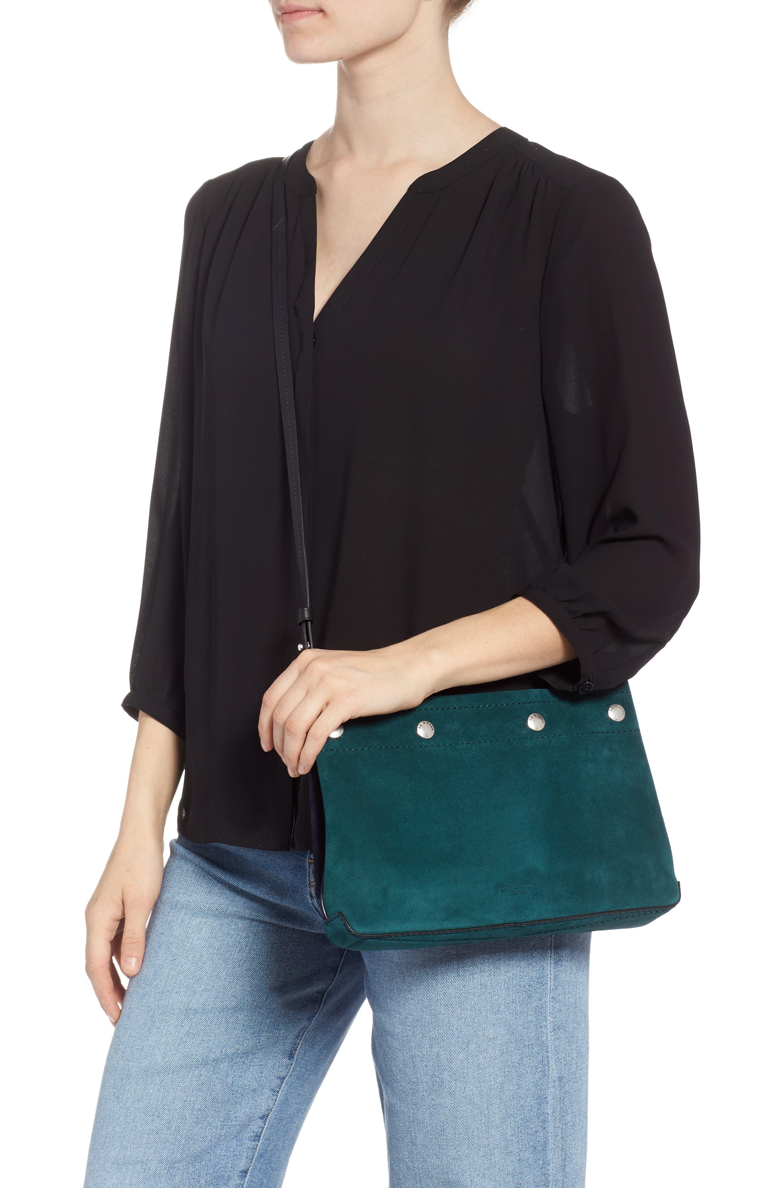 RAG & BONE,                             Compass Colorblock Leather Crossbody Bag,                             Alternate thumbnail 2, color,                             FOREST MULTI