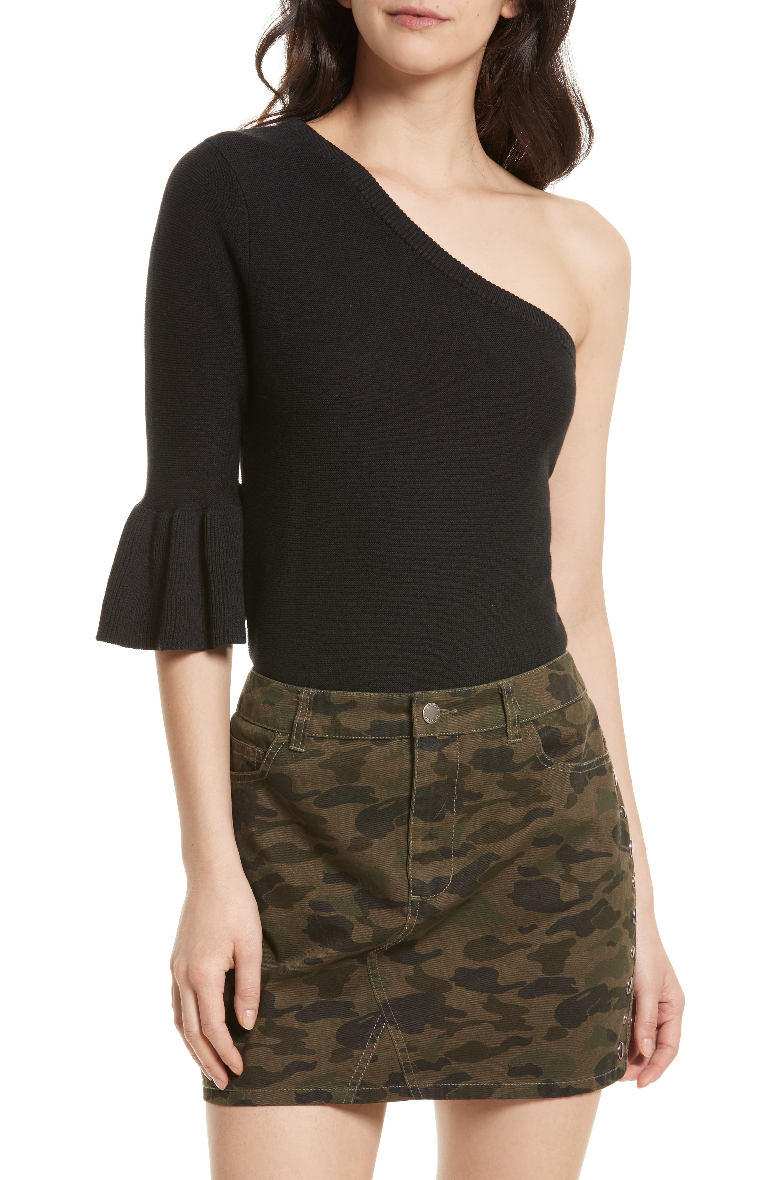 Wappo One-Shoulder Sweater,                             Main thumbnail 1, color,                             001