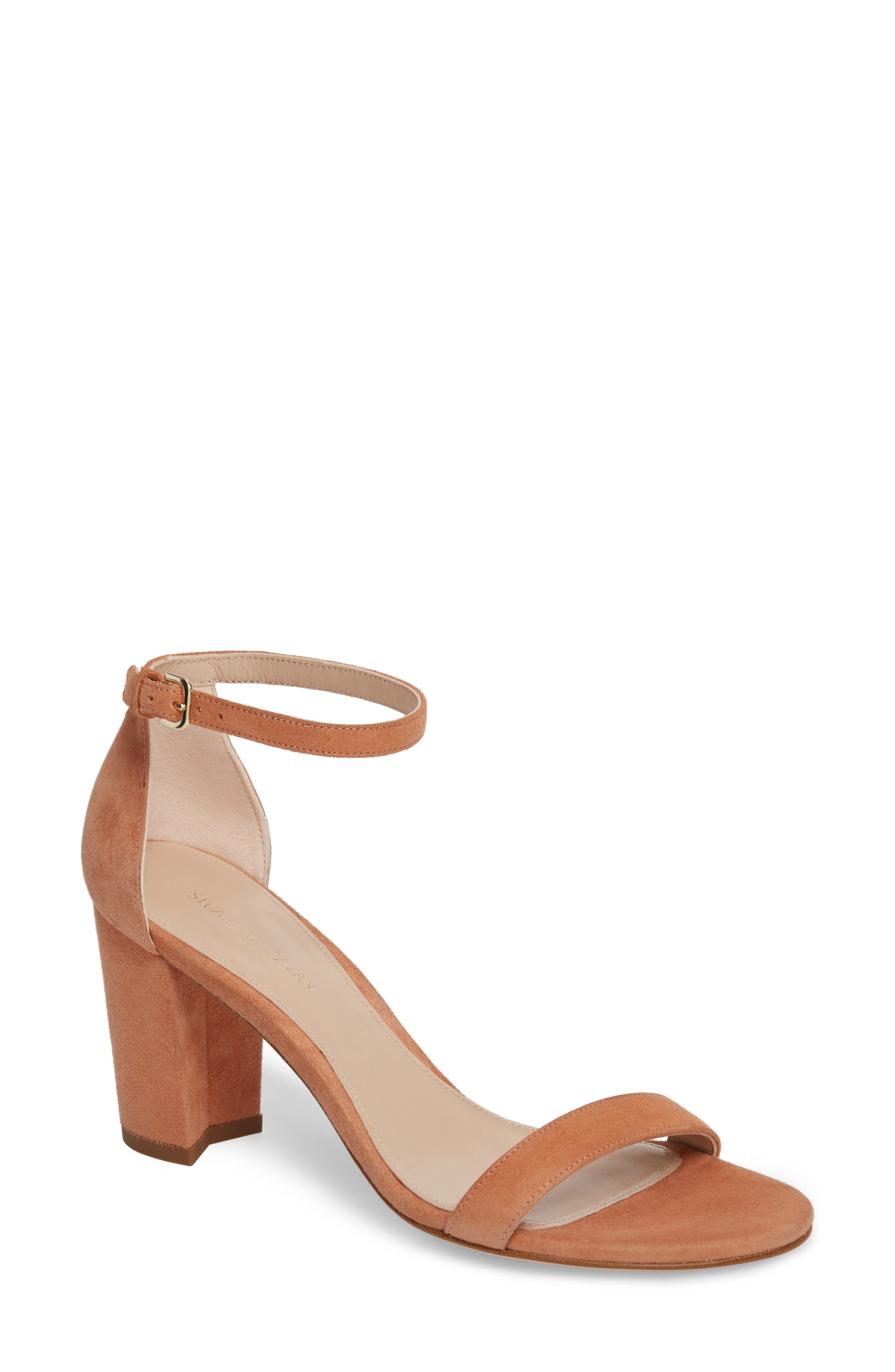 NearlyNude Ankle Strap Sandal,                             Main thumbnail 4, color,