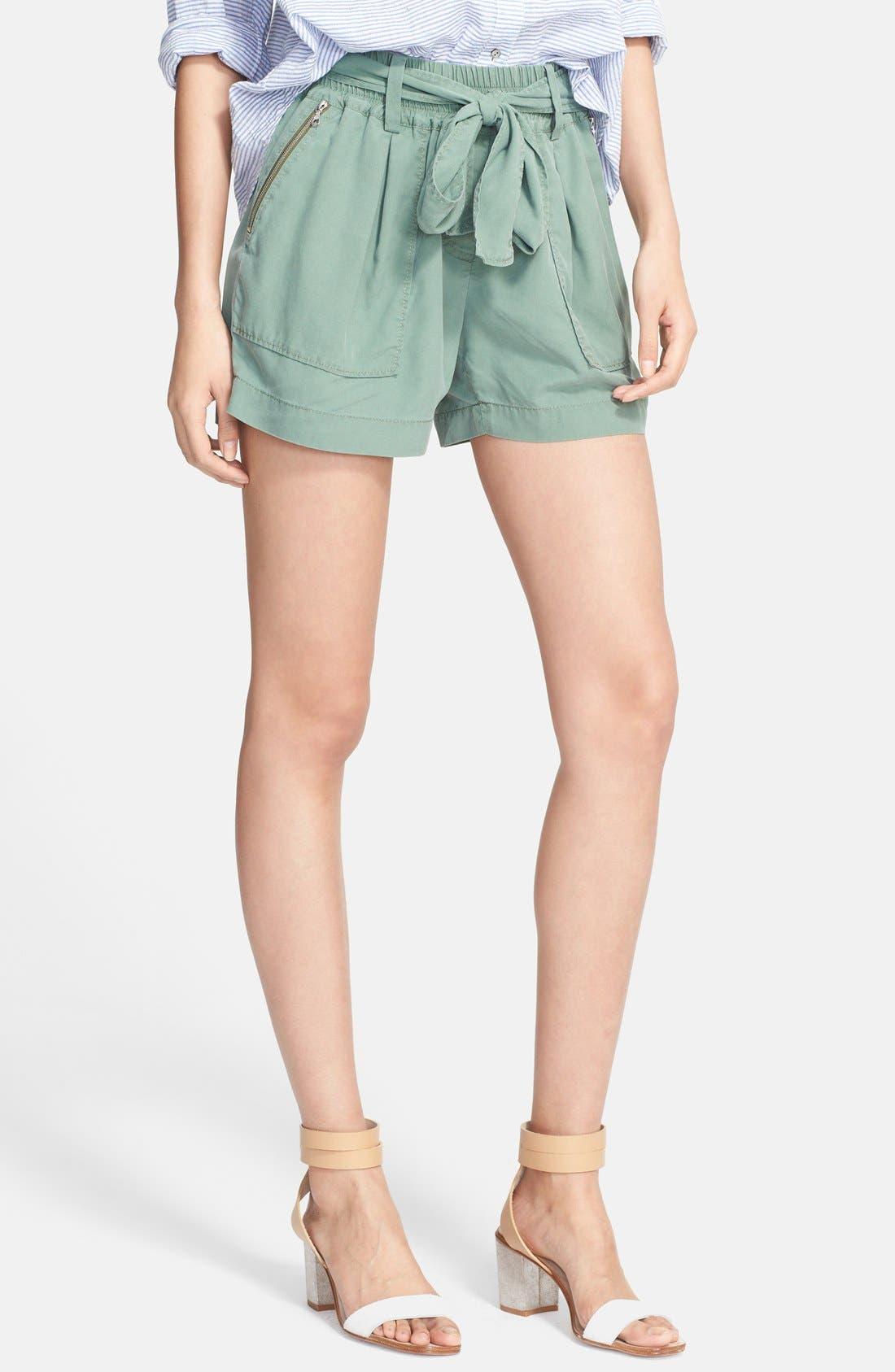'Chelsea' Silk Shorts,                         Main,                         color, 319