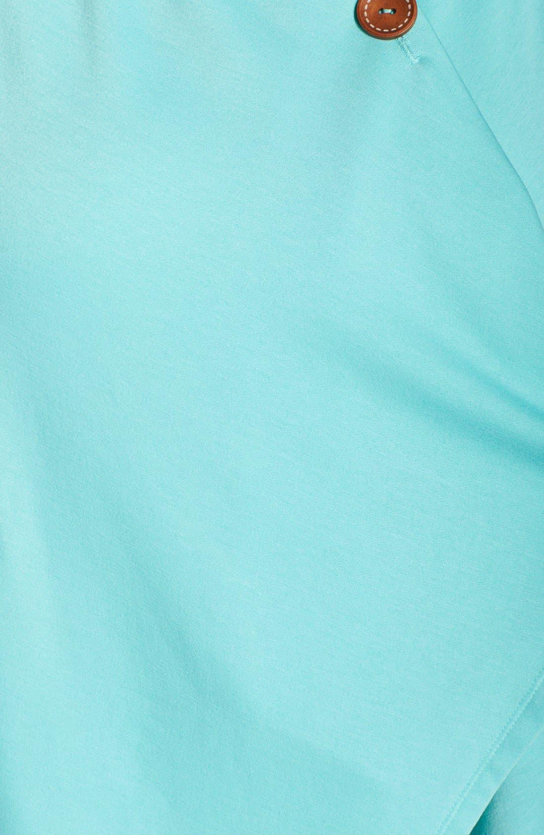 One-Button Fleece Cardigan,                             Alternate thumbnail 156, color,