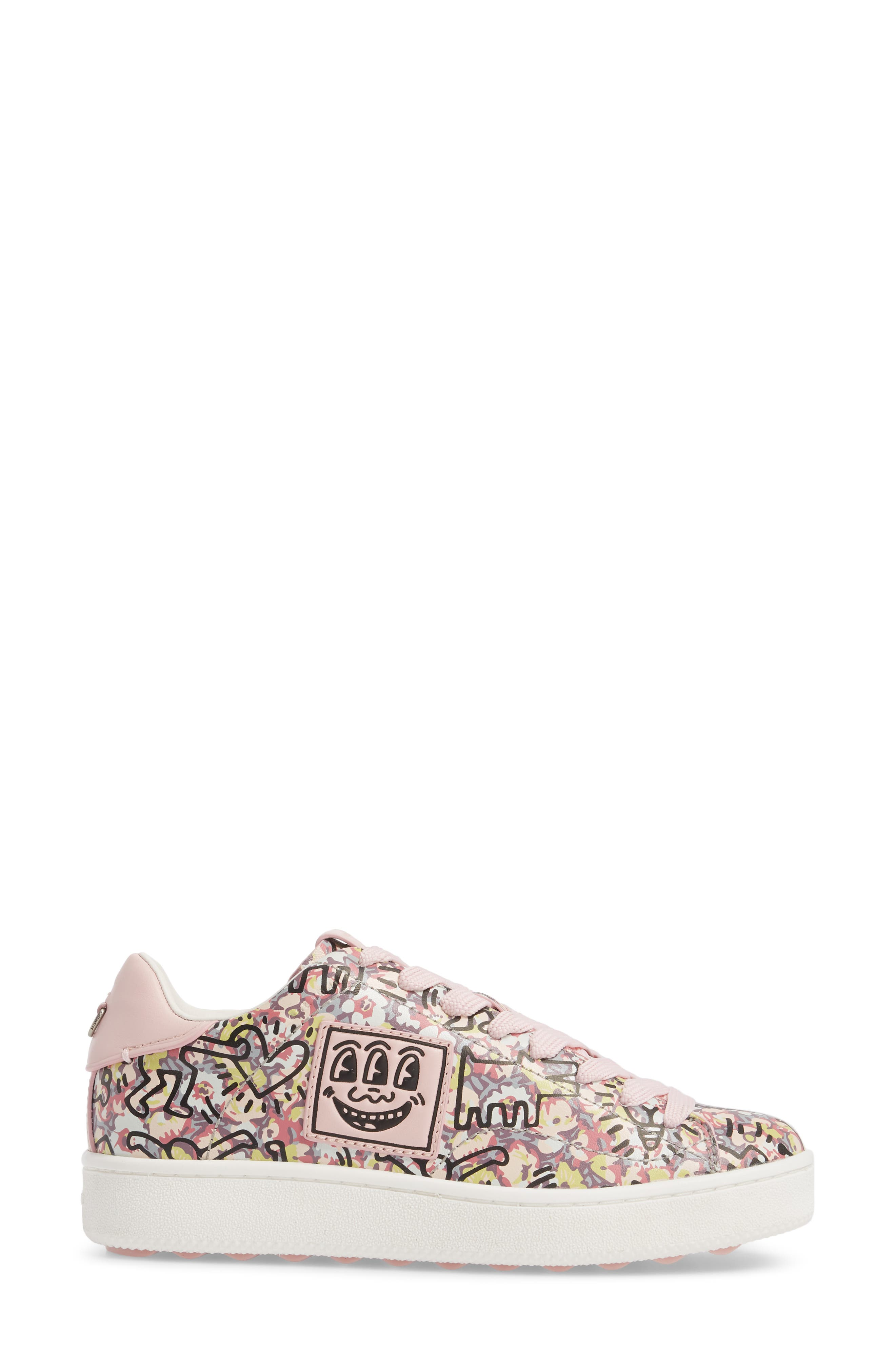 x Keith Haring Low Top Sneaker,                             Alternate thumbnail 3, color,                             674