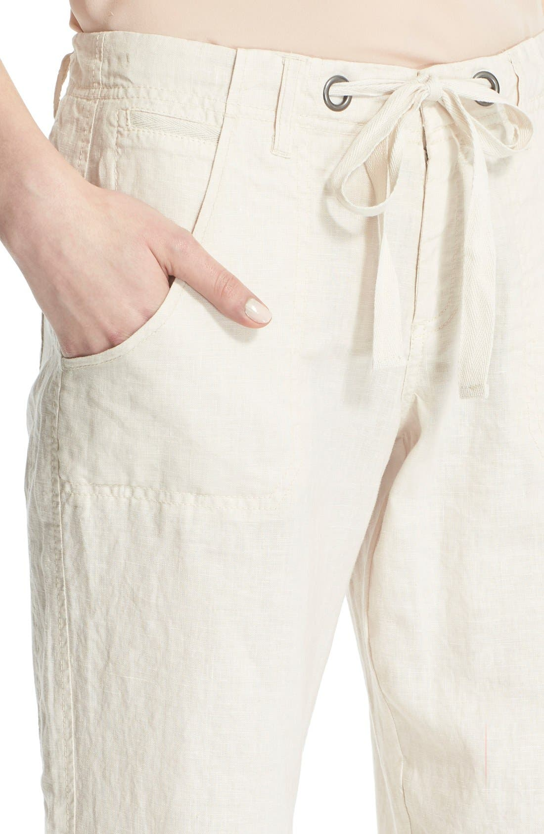 Wide Leg Linen Pants,                             Alternate thumbnail 9, color,