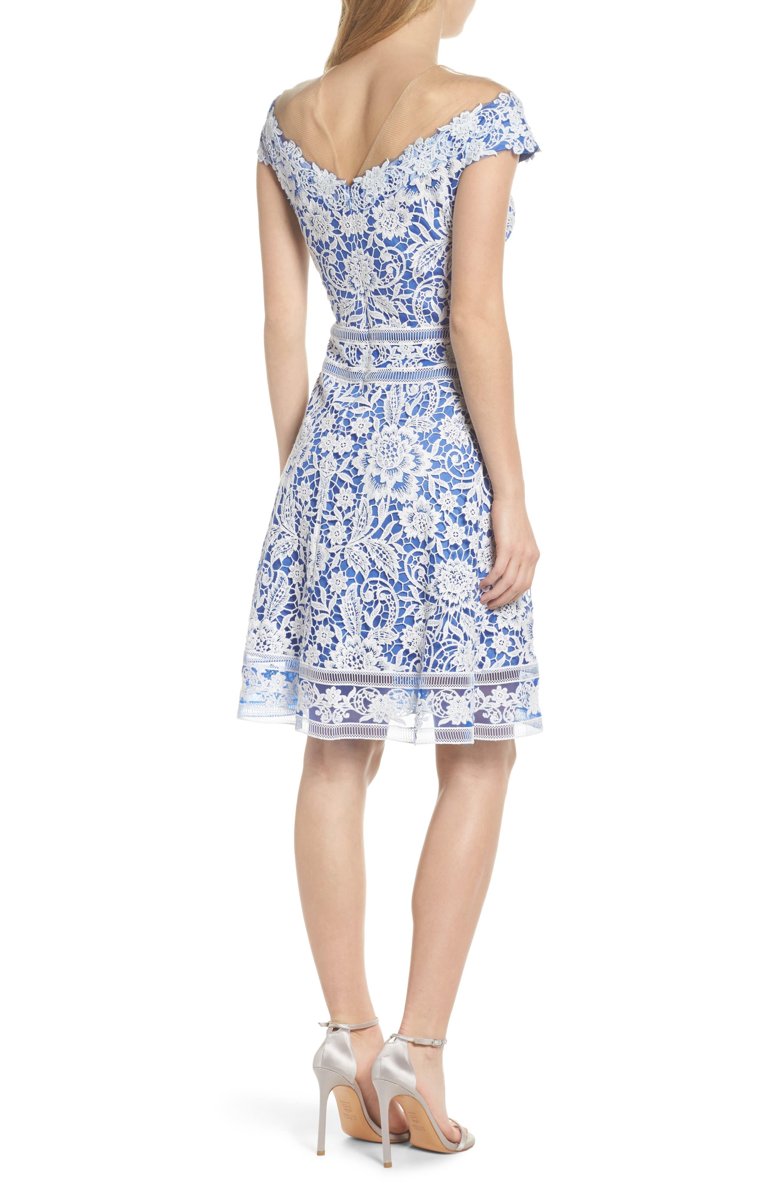 Illusion Neck Crochet Lace Dress,                             Alternate thumbnail 2, color,                             431