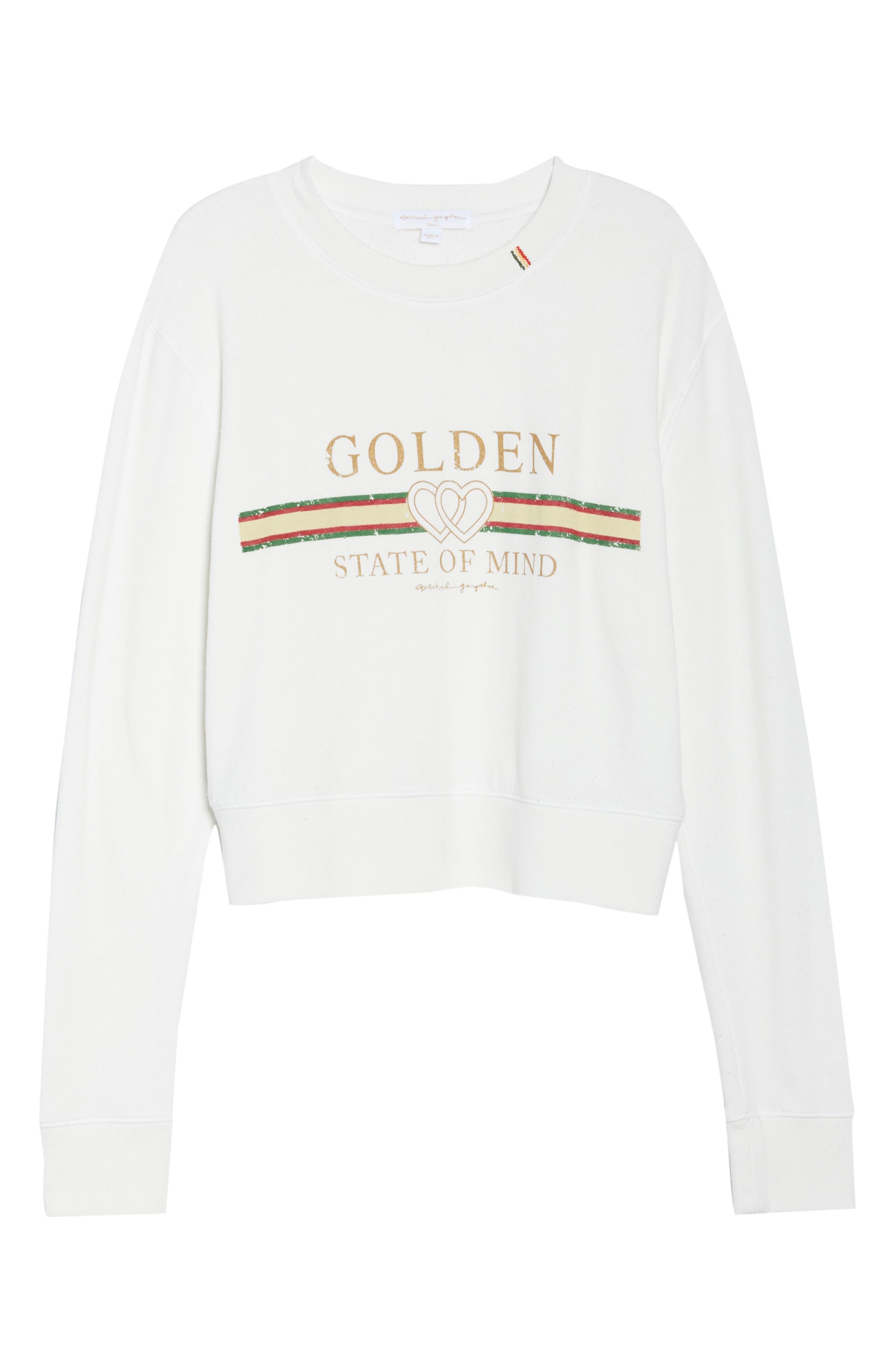 Golden State Crop Sweatshirt,                             Alternate thumbnail 7, color,                             108