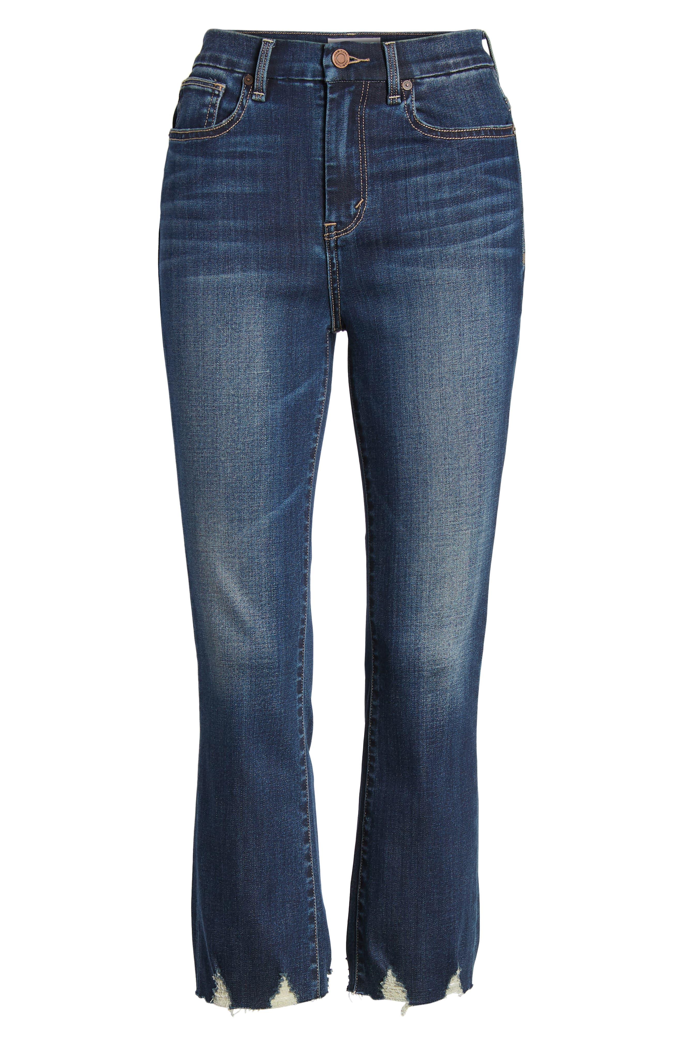 Palo Double Bite Crop Jeans,                             Alternate thumbnail 7, color,