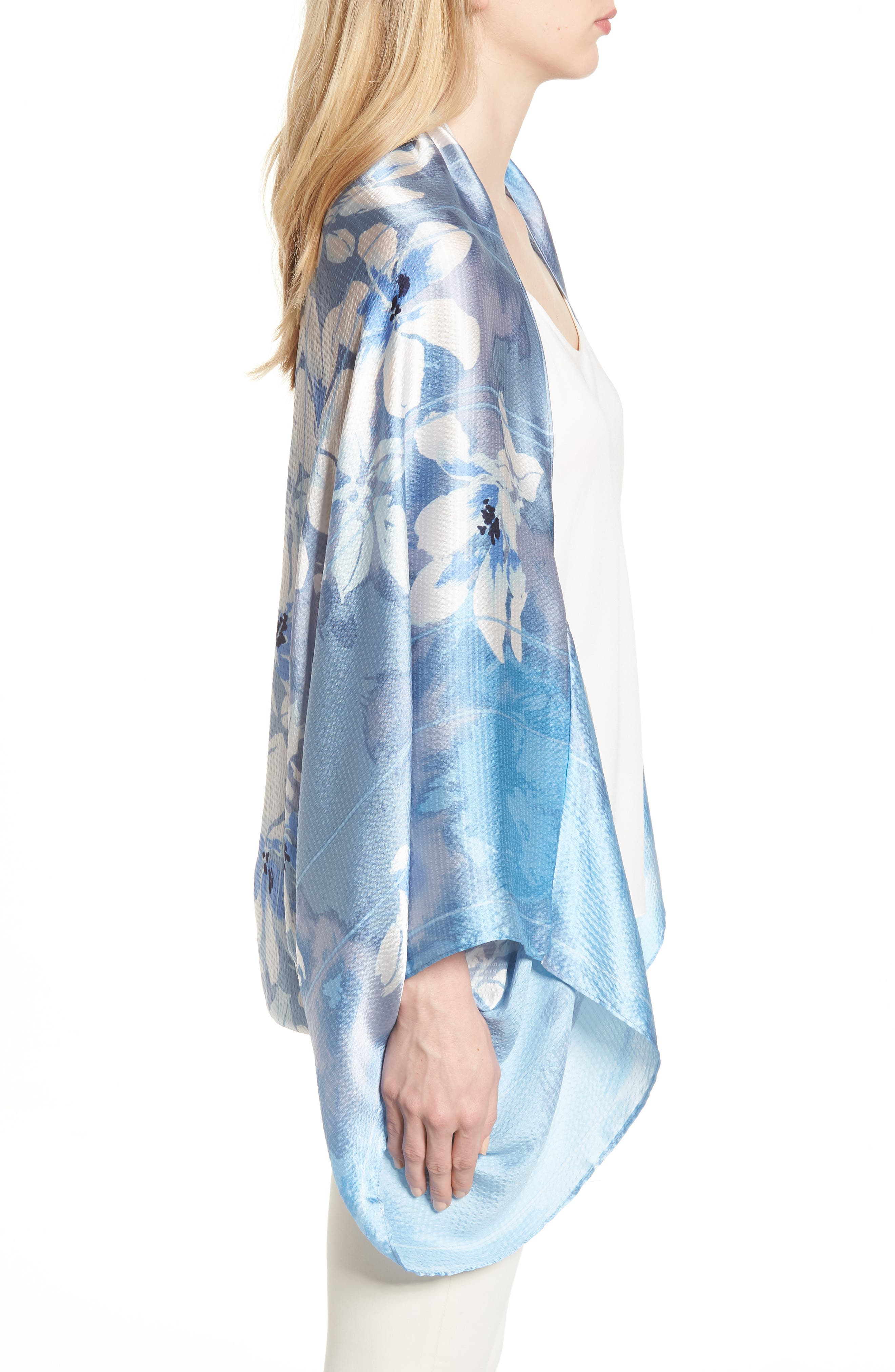 Silk Shrug Kimono,                             Alternate thumbnail 3, color,                             420