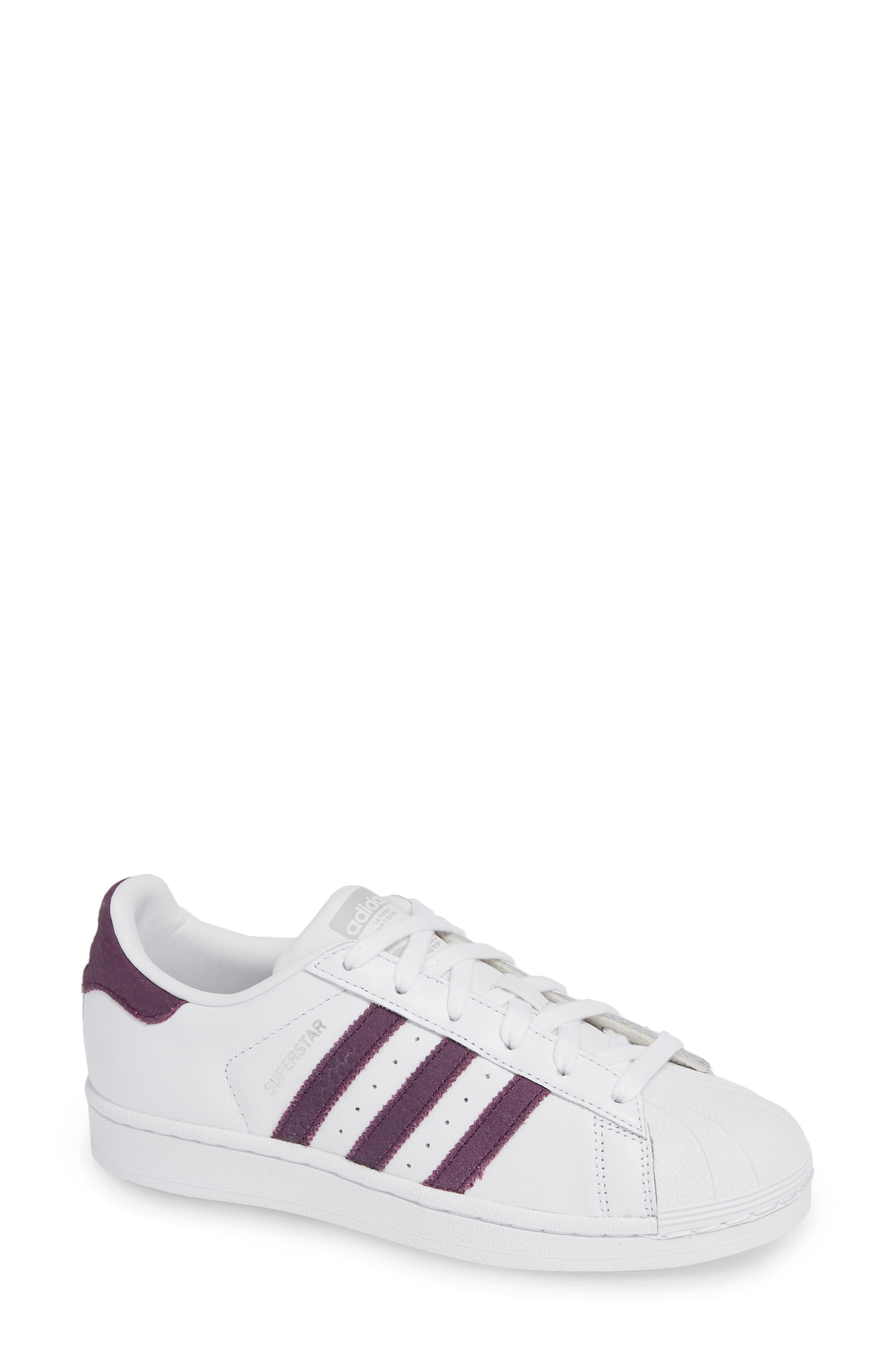 Superstar Sneaker,                             Main thumbnail 1, color,                             WHITE/ RED NIGHT/ SILVER