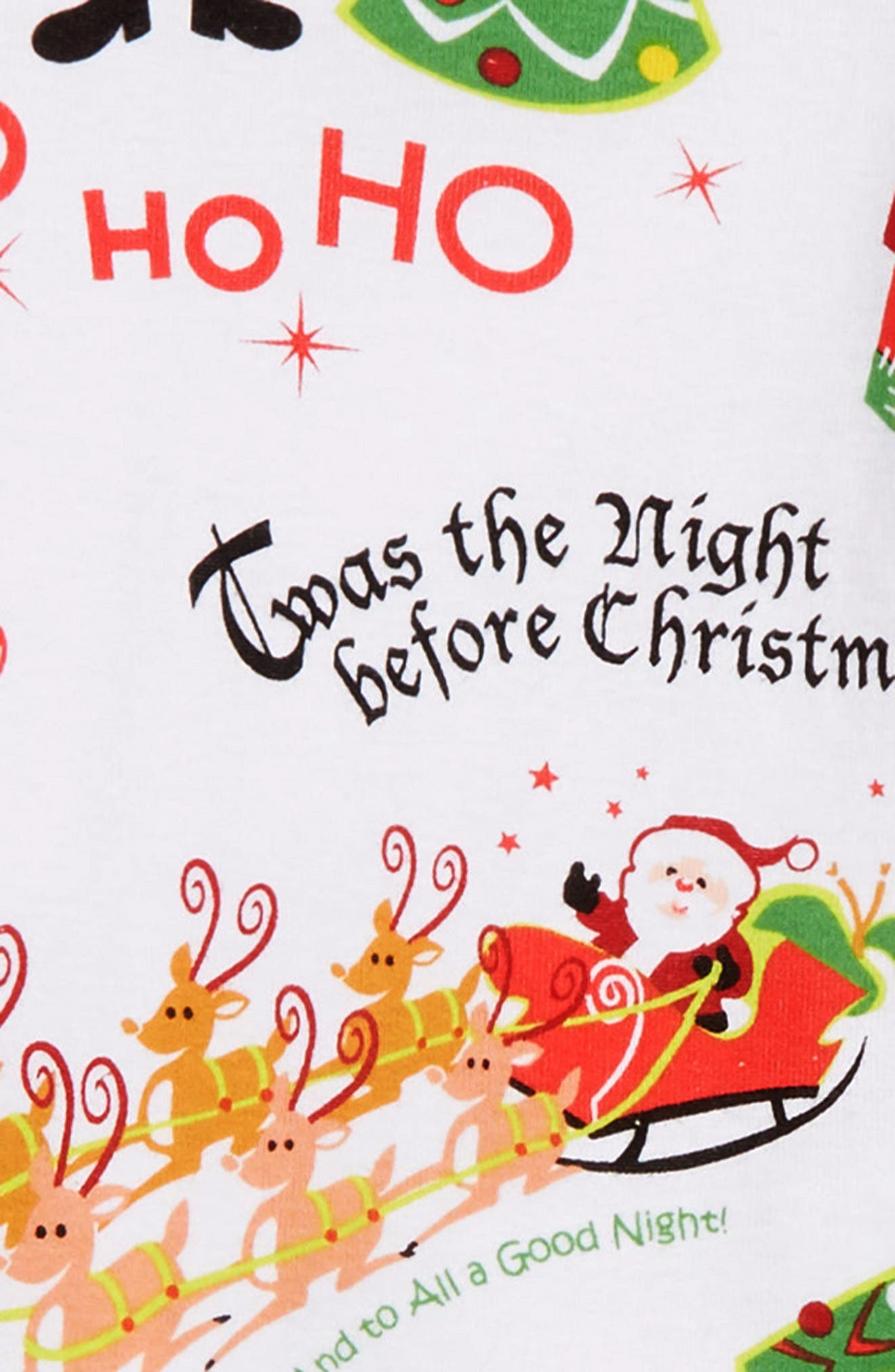 'Twas the Night Before Christmas Fitted Two-Piece Pajamas & Book Set,                             Alternate thumbnail 2, color,                             WHITE