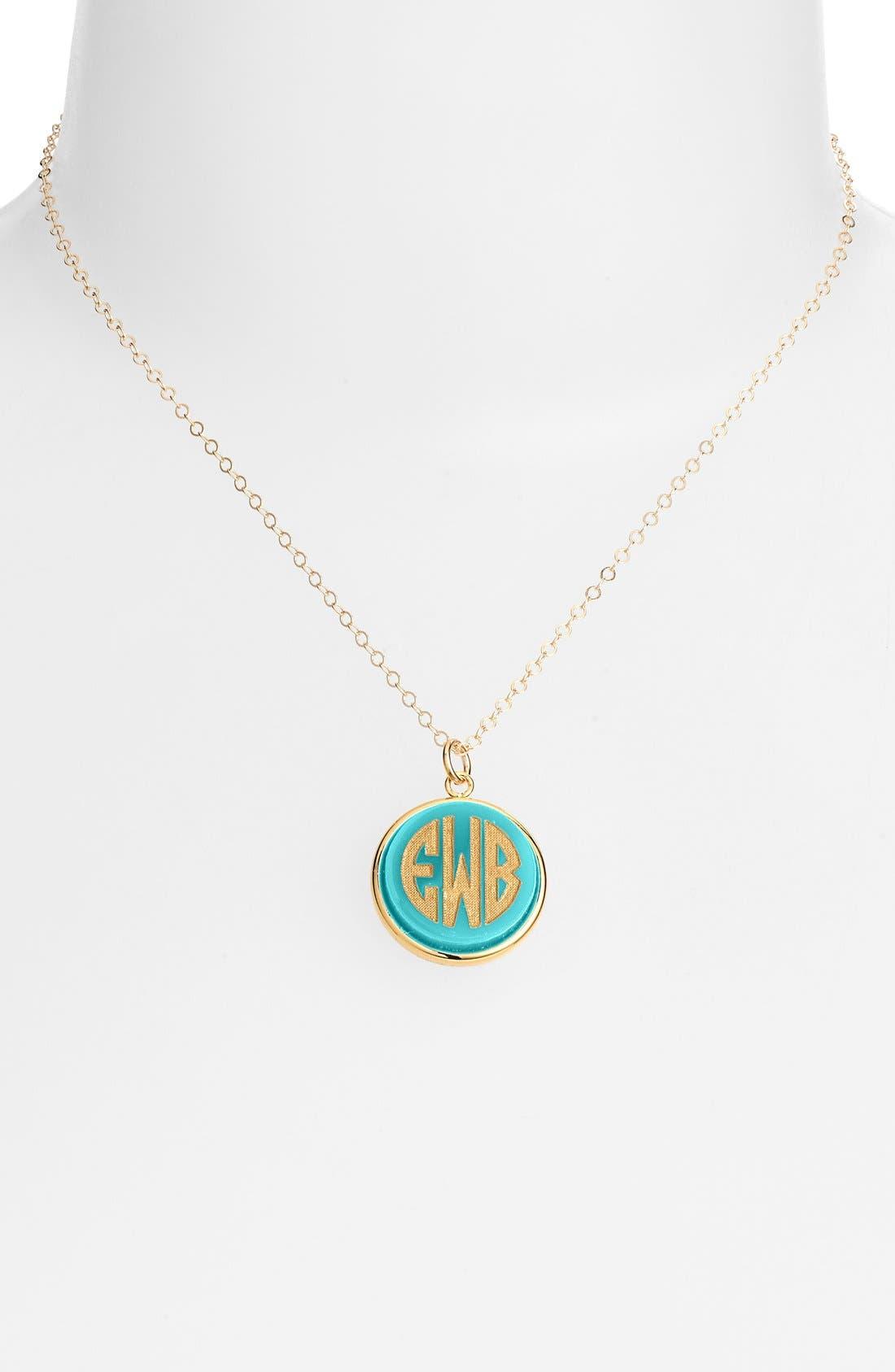 'Vineyard' Personalized Monogram Pendant Necklace,                             Main thumbnail 6, color,