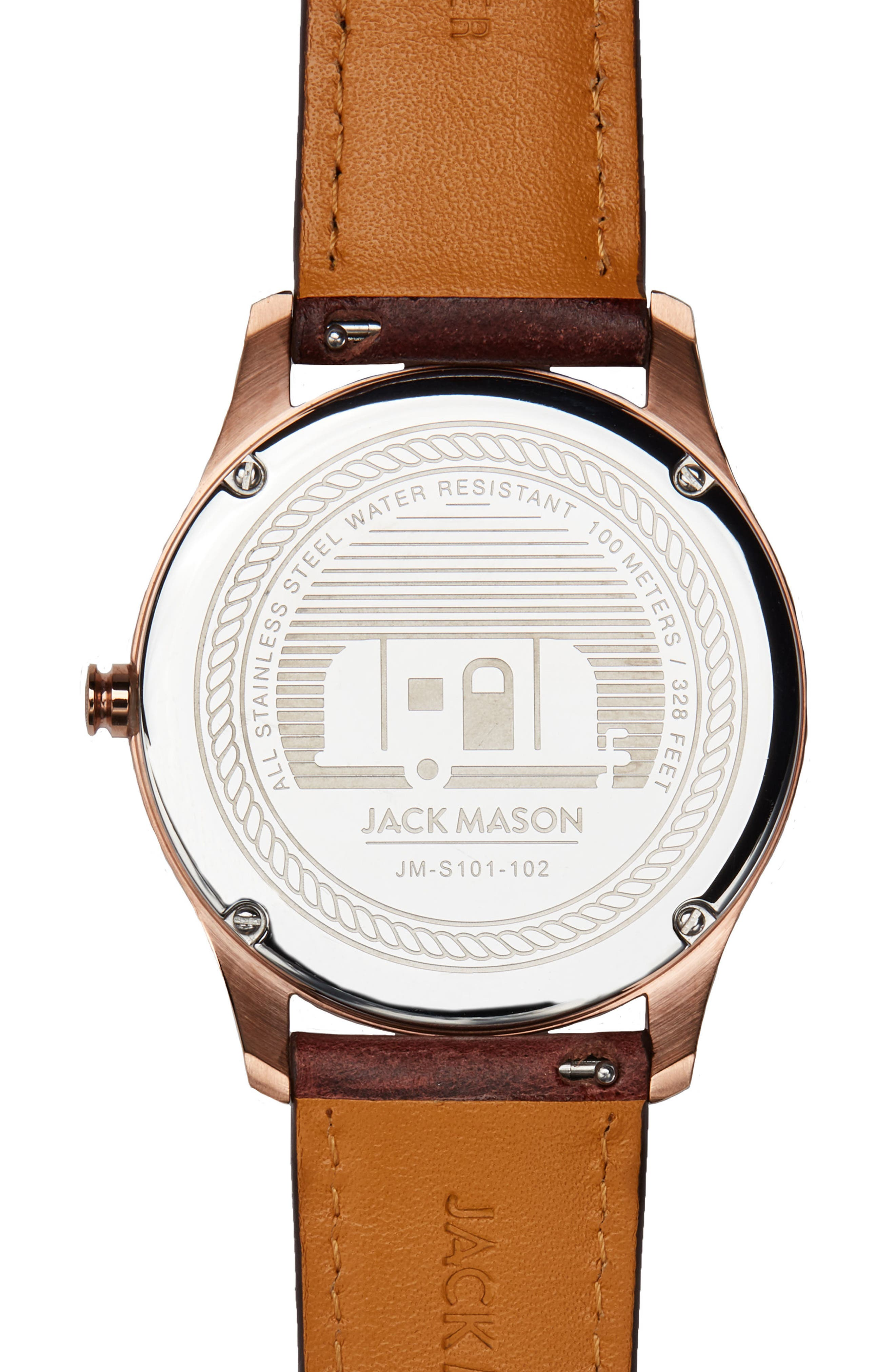 Slim Leather Strap Watch, 42mm,                             Alternate thumbnail 2, color,                             200
