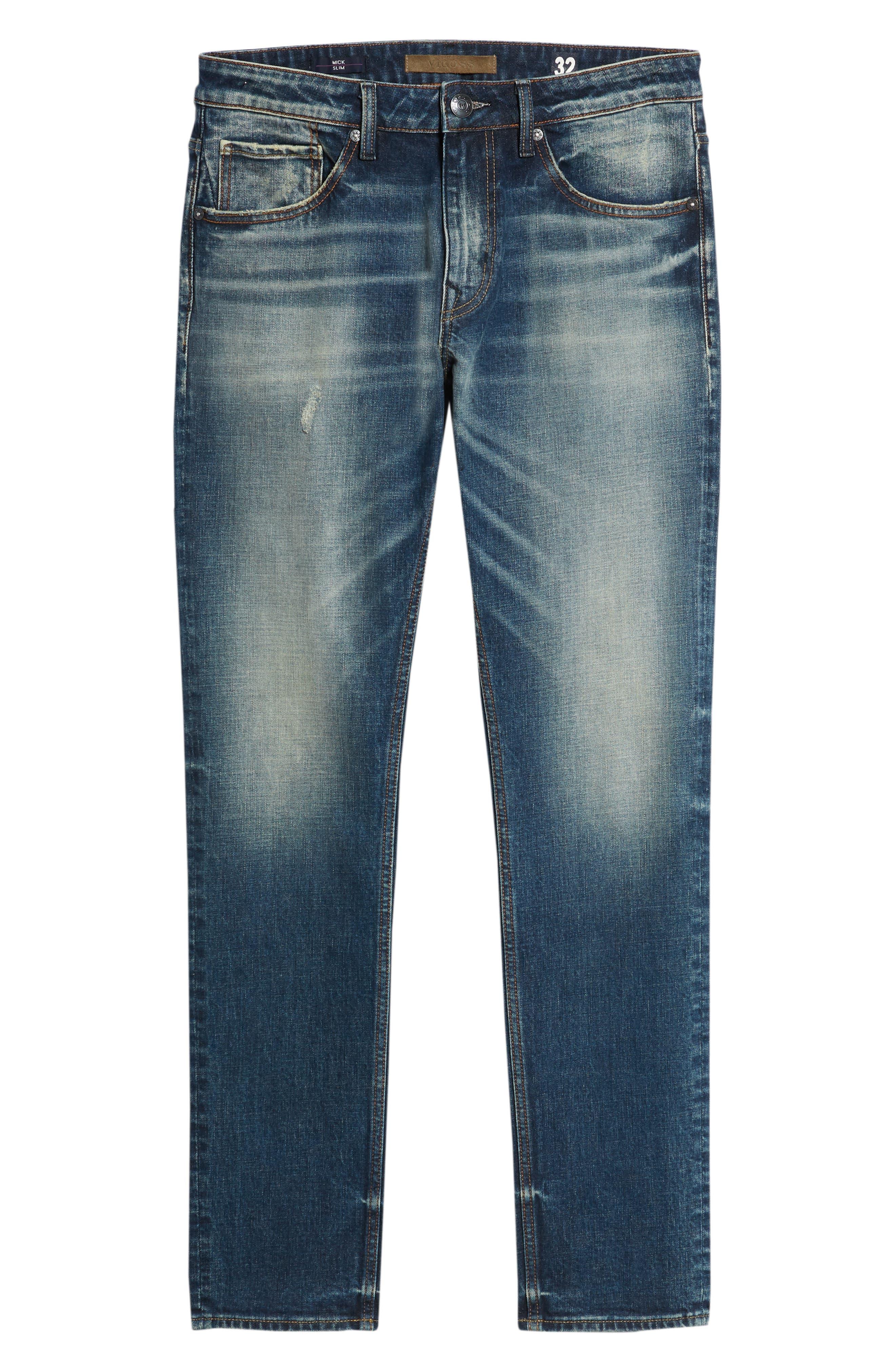 Mick Slim Fit Jeans,                             Alternate thumbnail 6, color,                             VINTAGE WASH