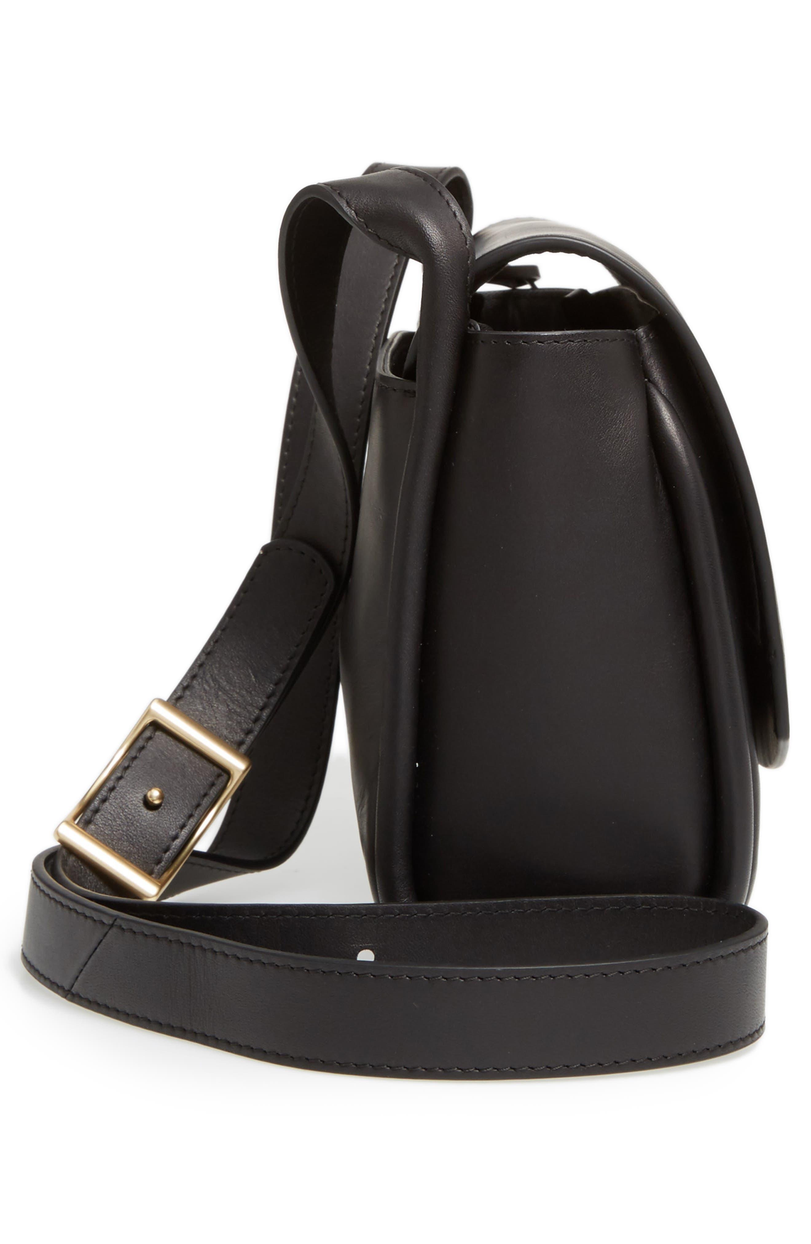 Sylvi Leather Crossbody Bag,                             Alternate thumbnail 5, color,                             001