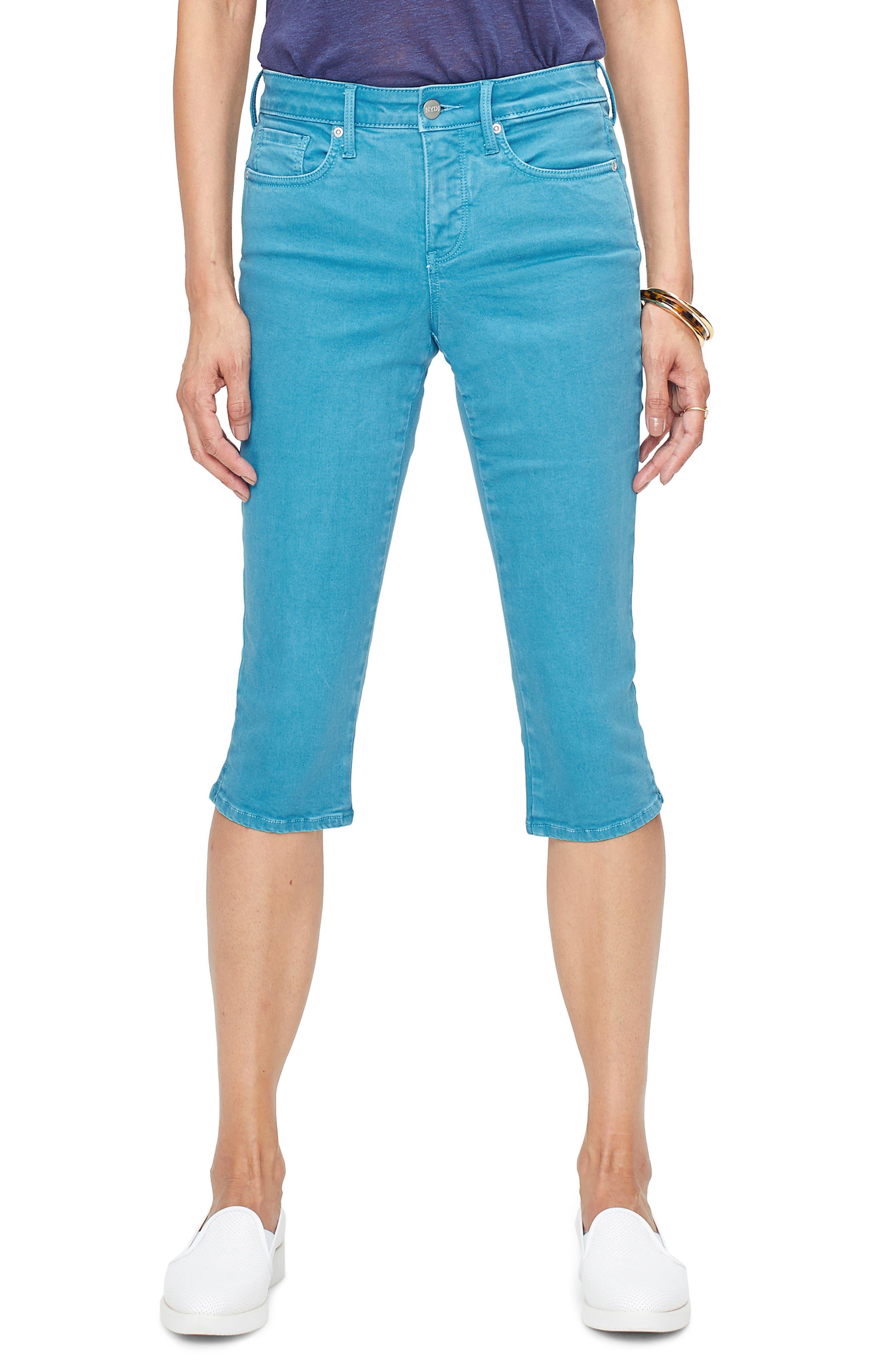 Nydj Capri Skinny Jeans, Blue