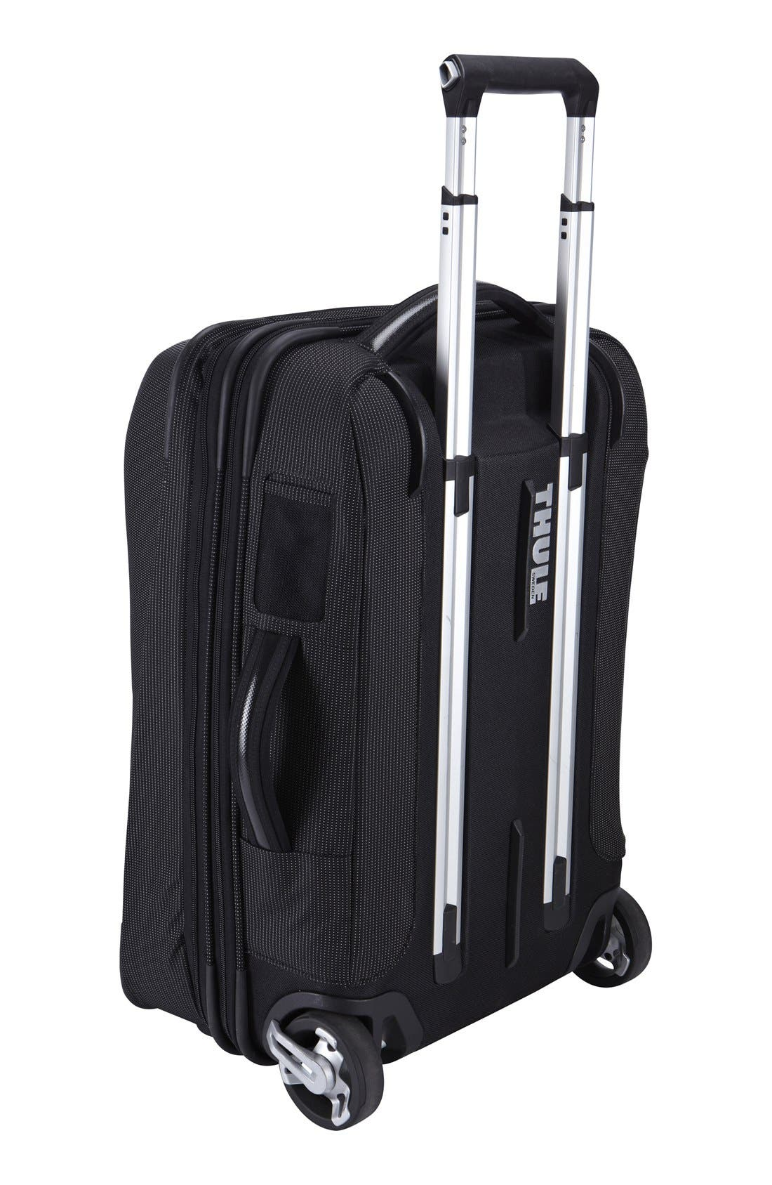 Crossover Rolling 23-Inch Carry-On with Garment Bag,                             Alternate thumbnail 2, color,                             BLACK