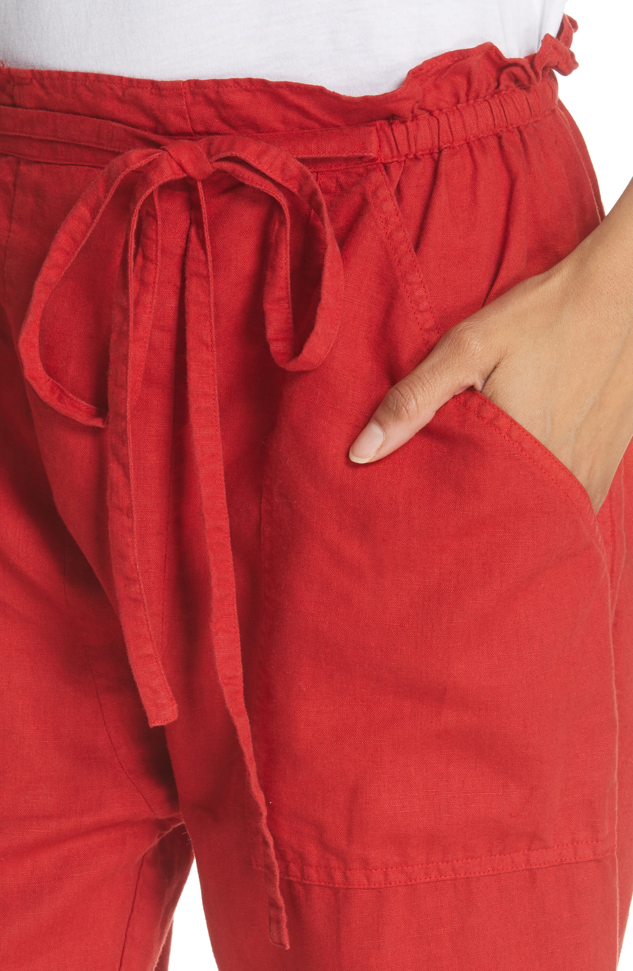 The Paper Bag Harem Pants,                             Alternate thumbnail 4, color,                             600