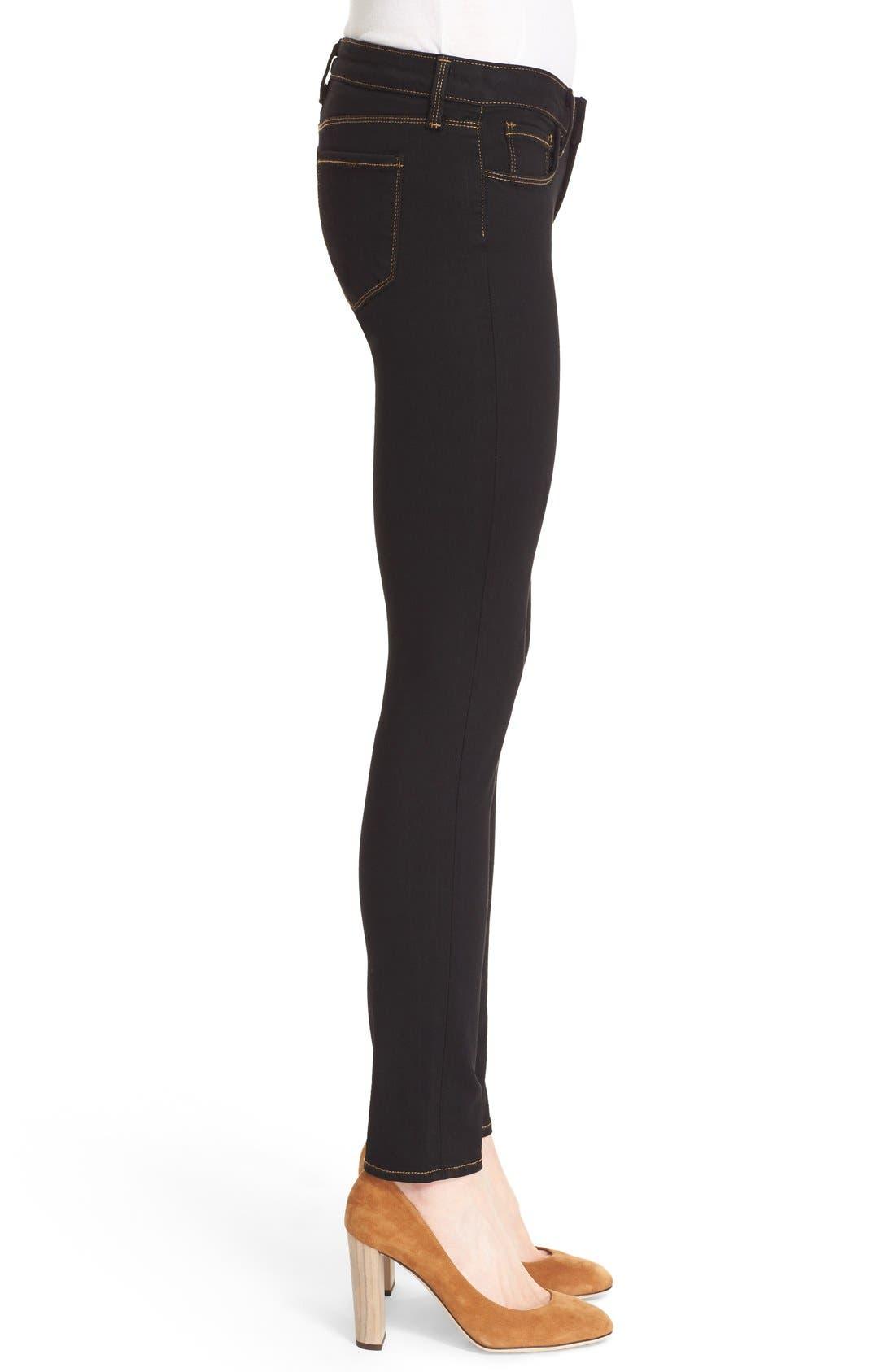 L'AGENCE,                             'Chantal' Skinny Jeans,                             Alternate thumbnail 3, color,                             001