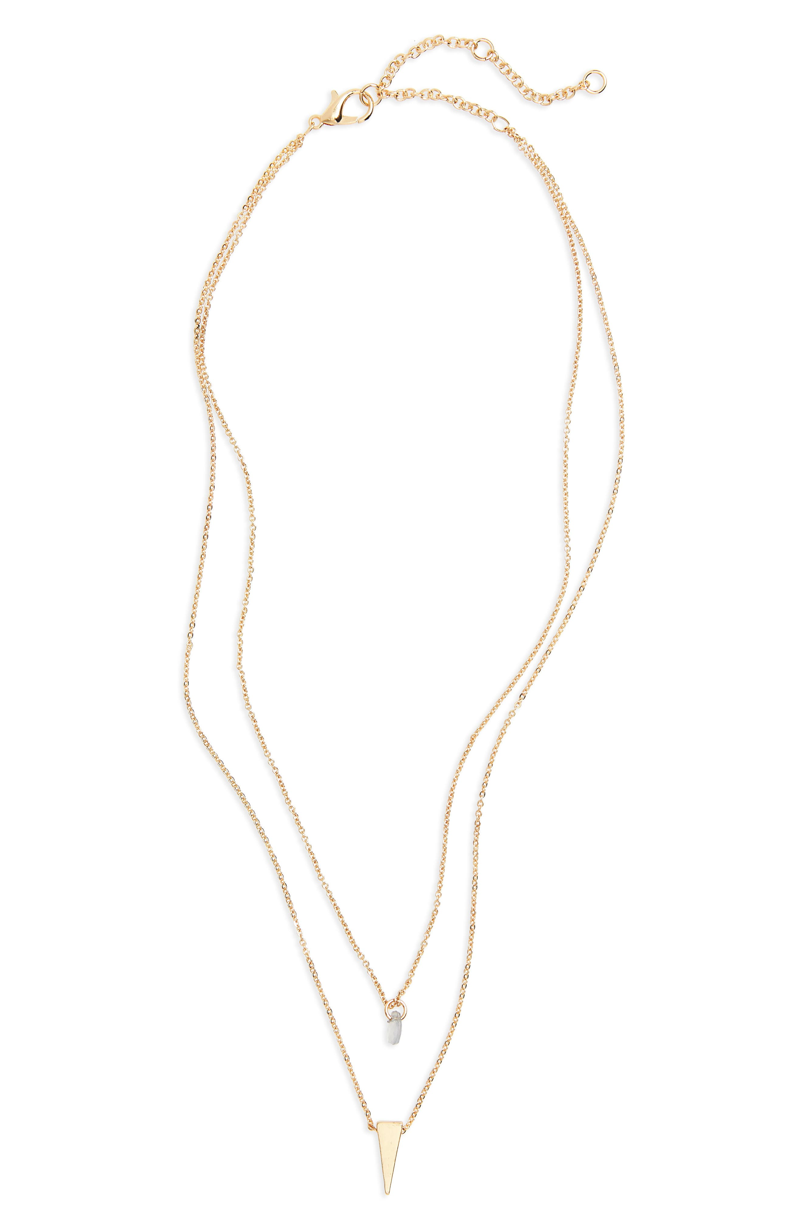 Layered Mixed Pendant Necklace,                             Main thumbnail 1, color,                             710