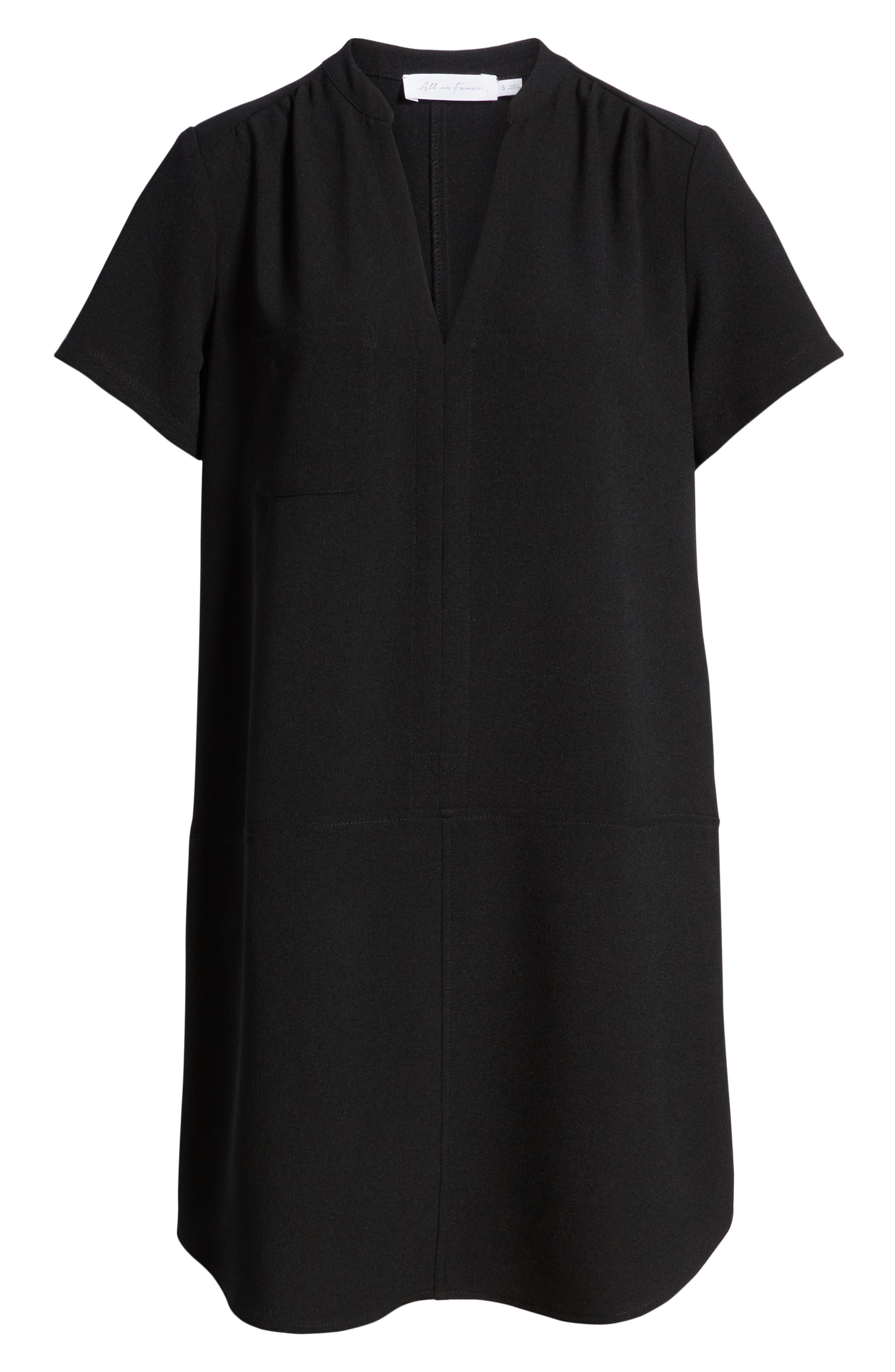 Hailey Crepe Dress,                             Alternate thumbnail 6, color,                             005