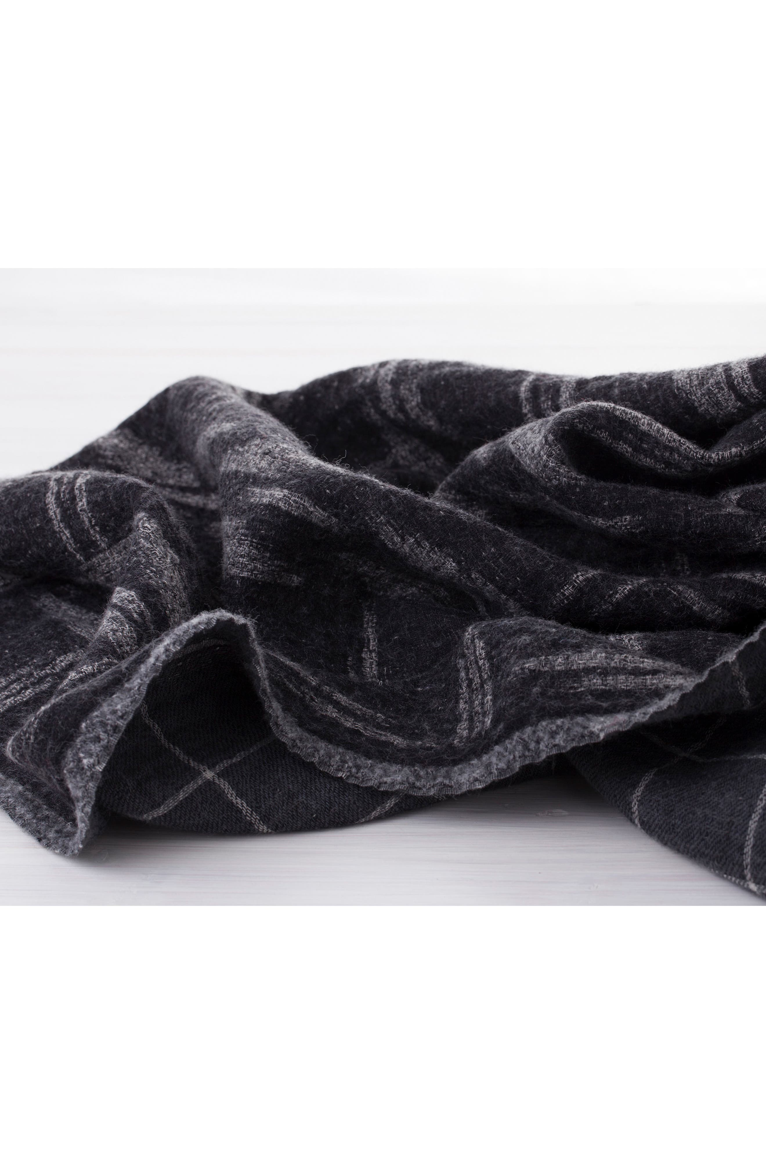 Kasuri Double Face Merino Wool Throw,                             Alternate thumbnail 3, color,                             KASURI