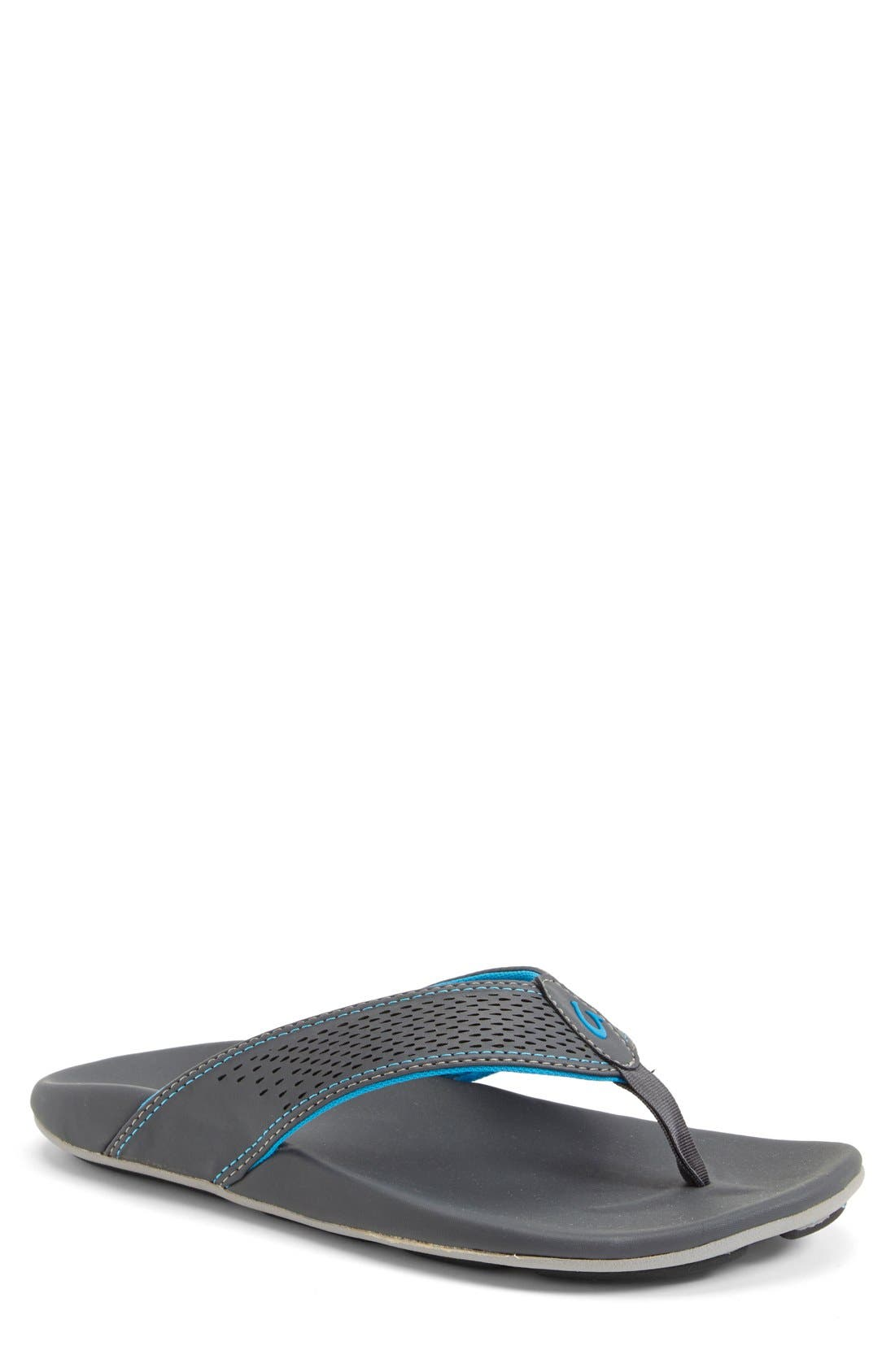 OLUKAI 'Kekoa' Water Resistant Perforated Flip Flop, Main, color, 029