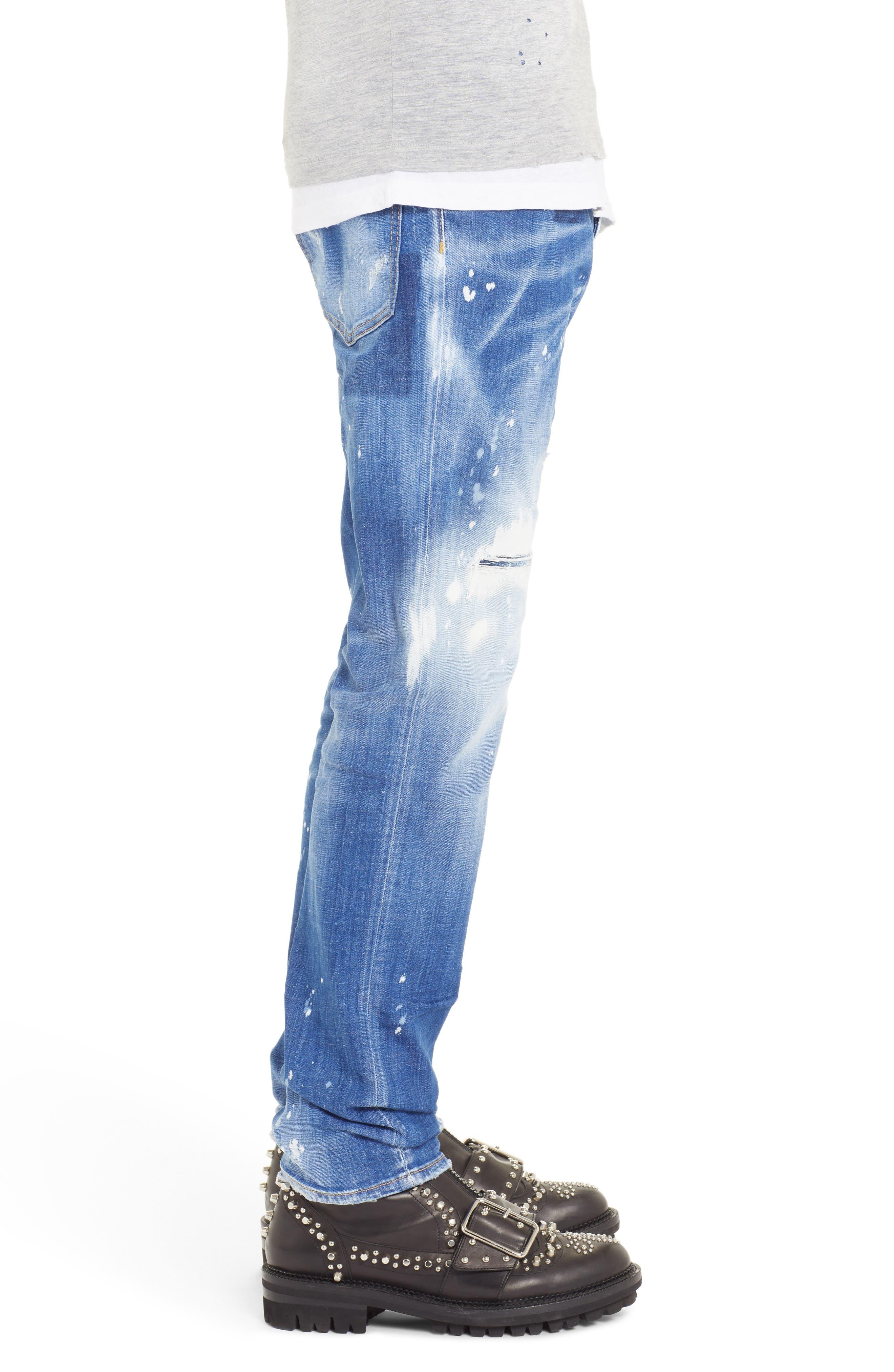 Paint Sexy Twist Slim Fit Jeans,                             Alternate thumbnail 3, color,                             400