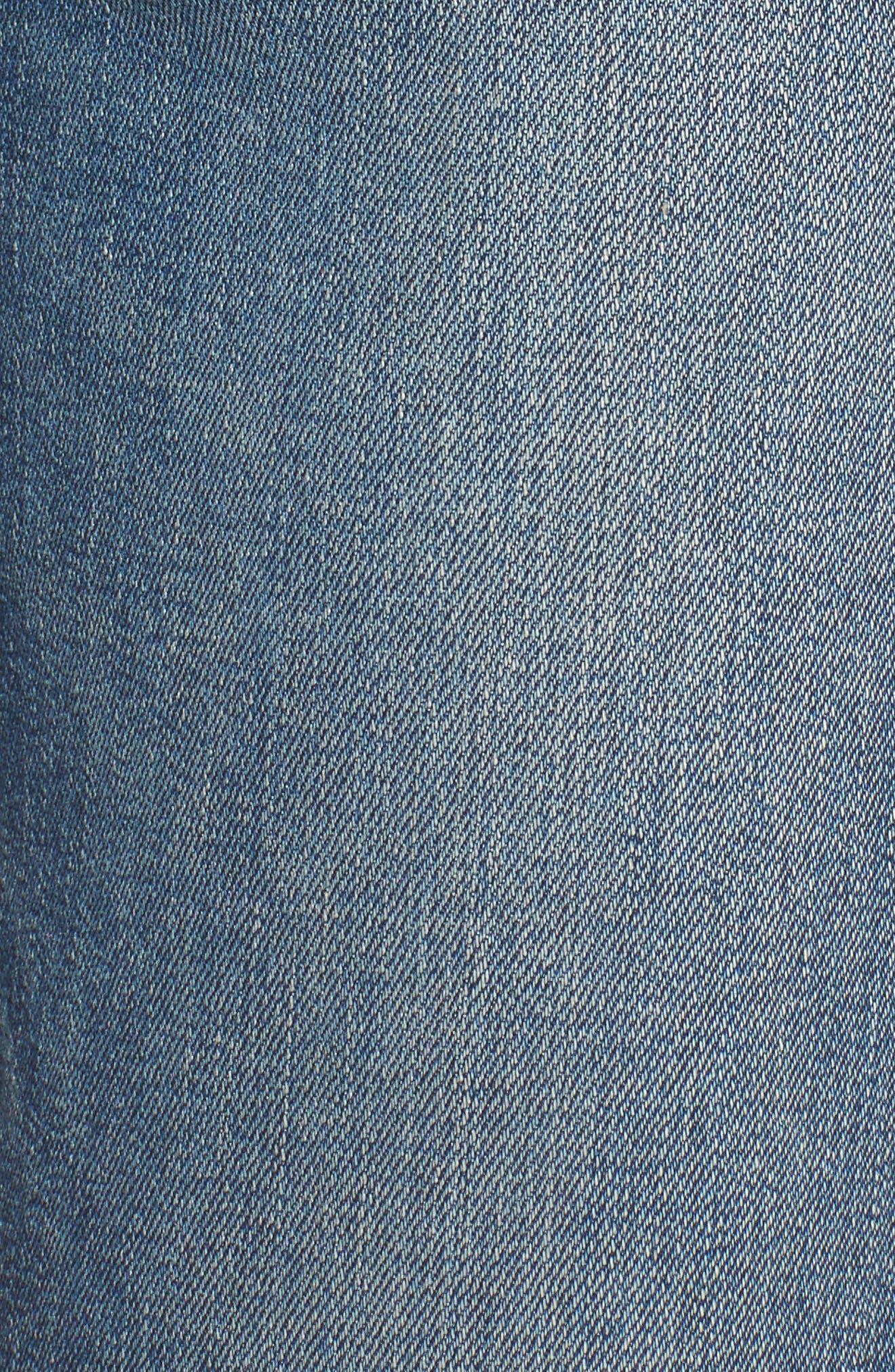 Zoeey High Waist Crop Jeans,                             Alternate thumbnail 5, color,                             460