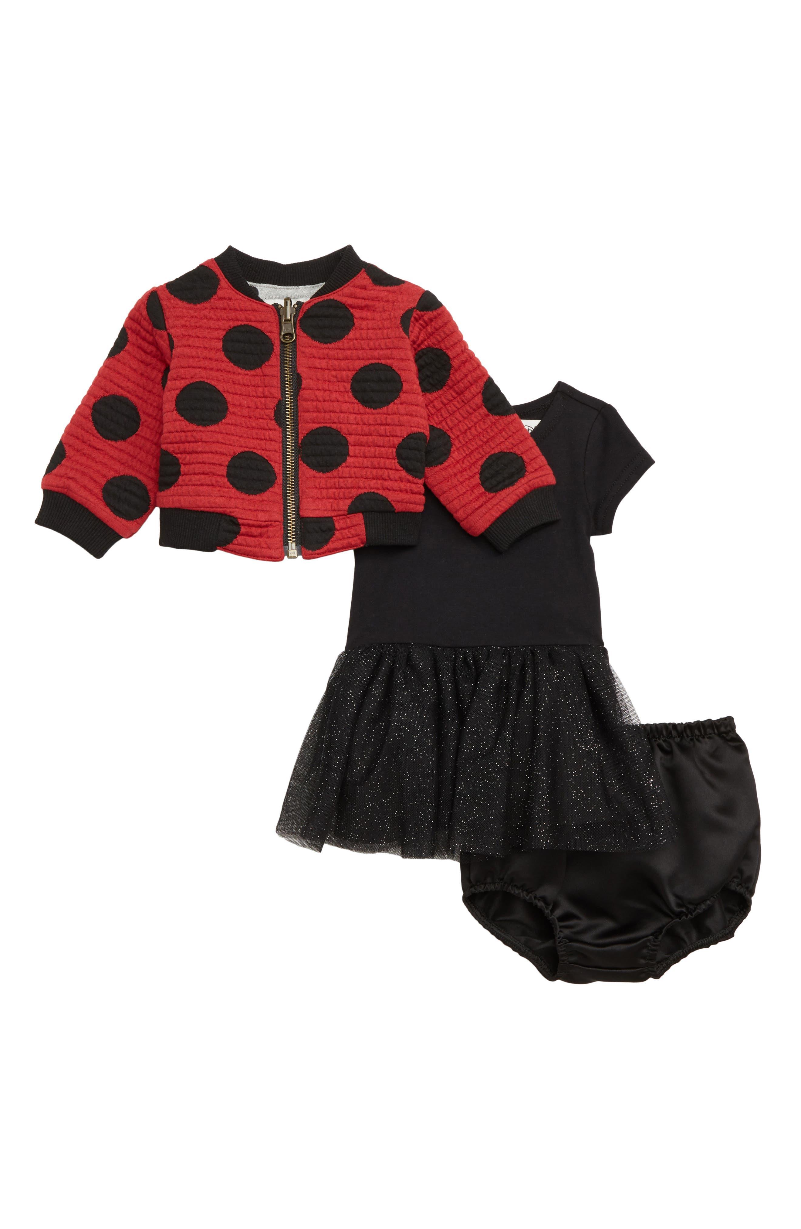 x Disney Minnie Mouse Tutu Dress & Reversible Bomber Jacket Set, Main, color, 619