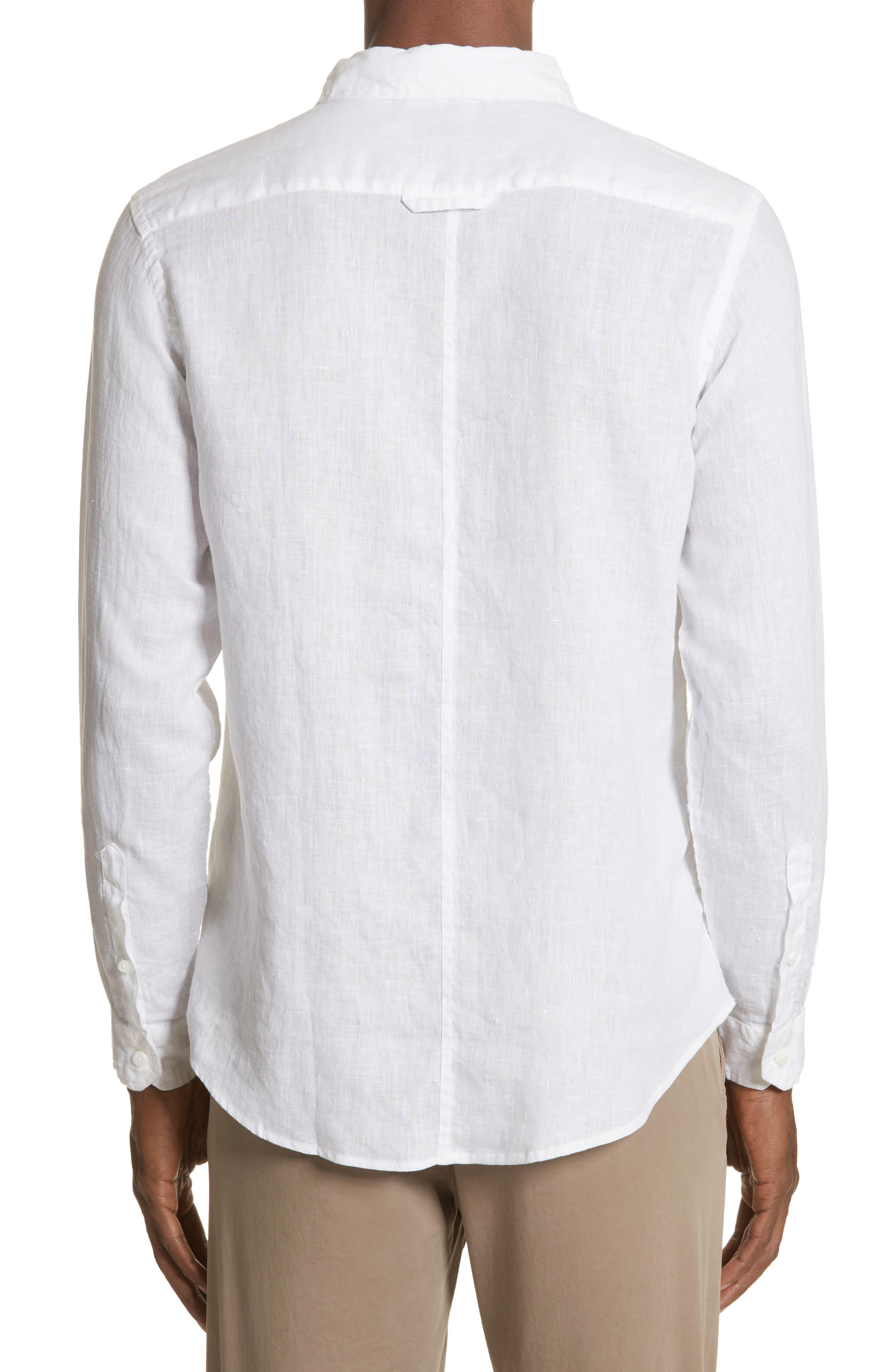 Abe Linen Shirt,                             Alternate thumbnail 2, color,                             WHITE