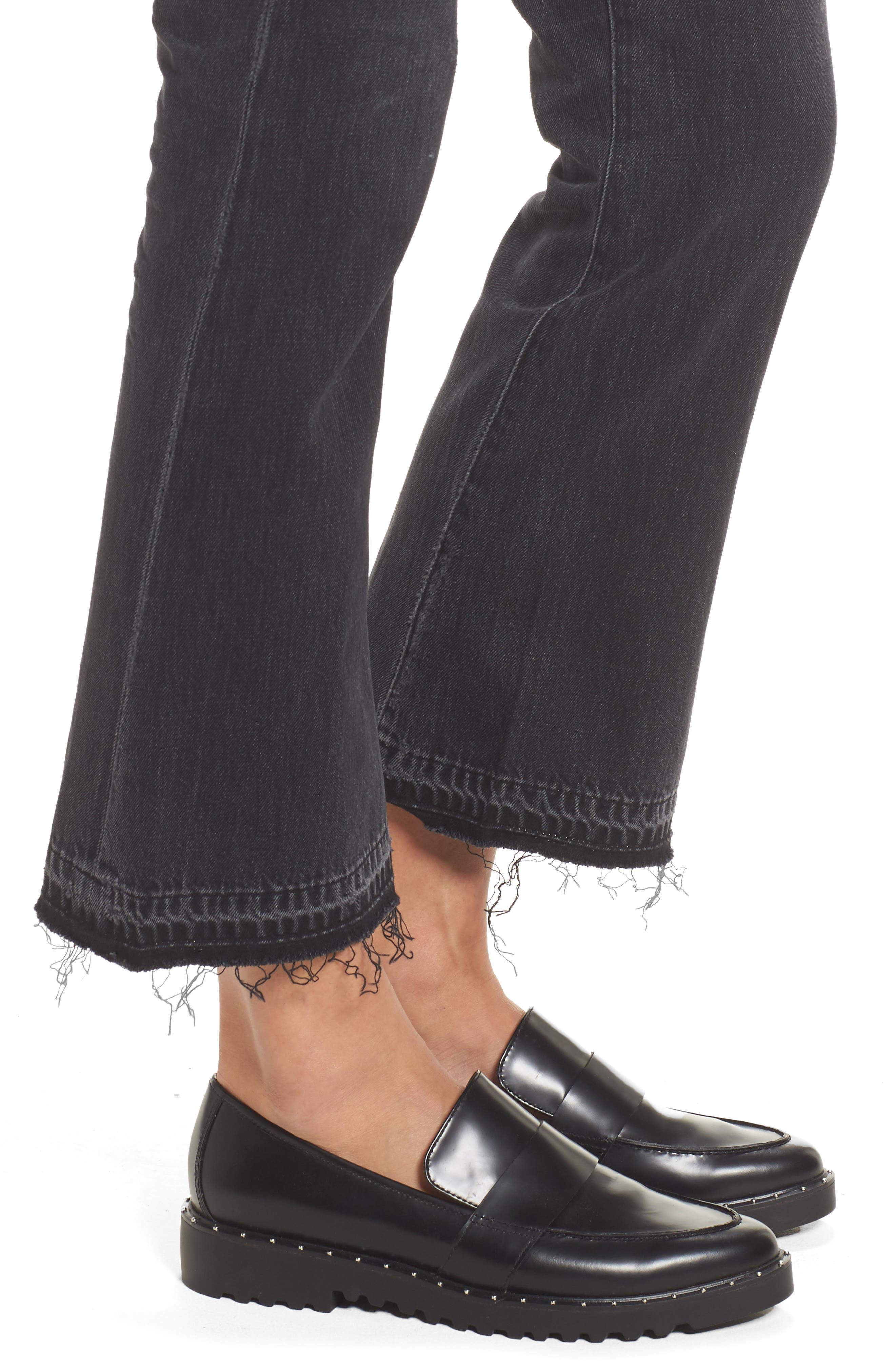 Sasha Twist Crop Jeans,                             Alternate thumbnail 4, color,                             BLACK HAWK