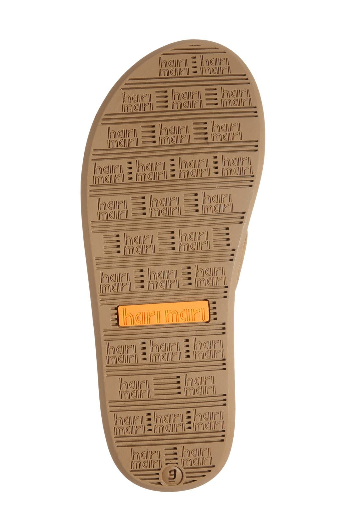 Fields Flip Flop,                             Alternate thumbnail 4, color,                             TAN/ ORANGE/ TAN