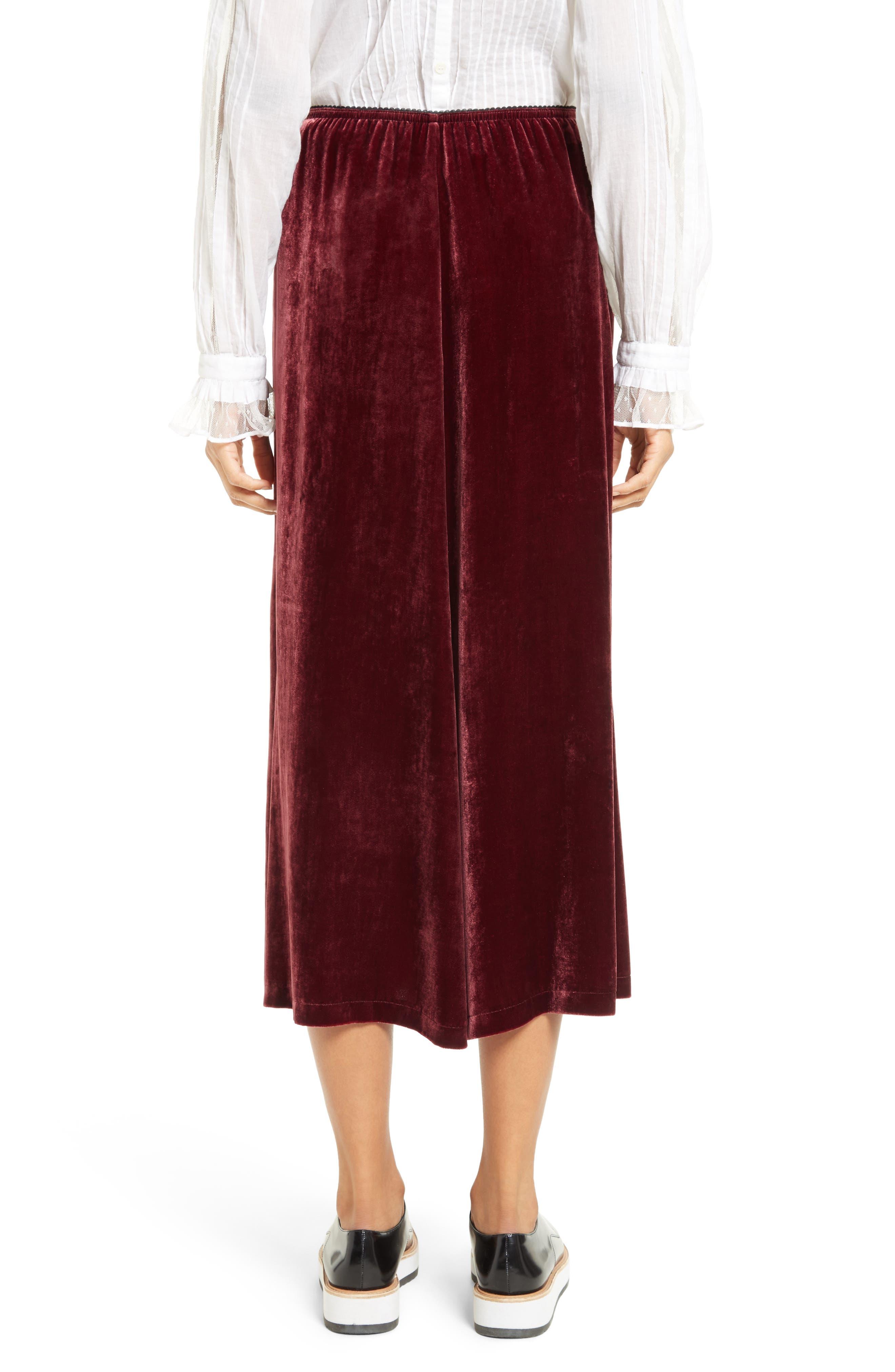 Velvet Midi Skirt,                             Alternate thumbnail 2, color,                             601