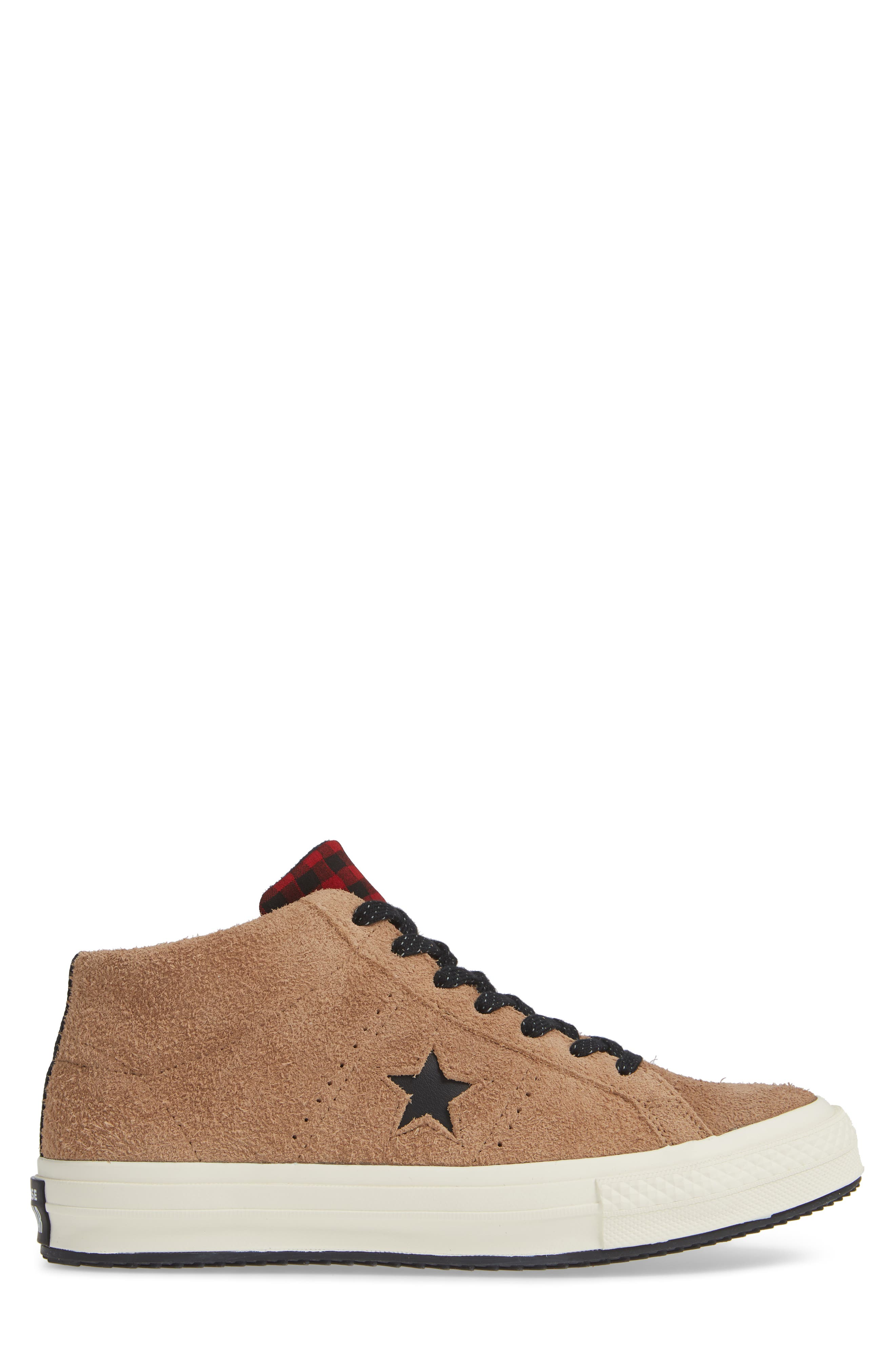 One Star Climate Counter Mid Top Sneaker,                             Alternate thumbnail 3, color,                             FIELD SURPLUS SUEDE