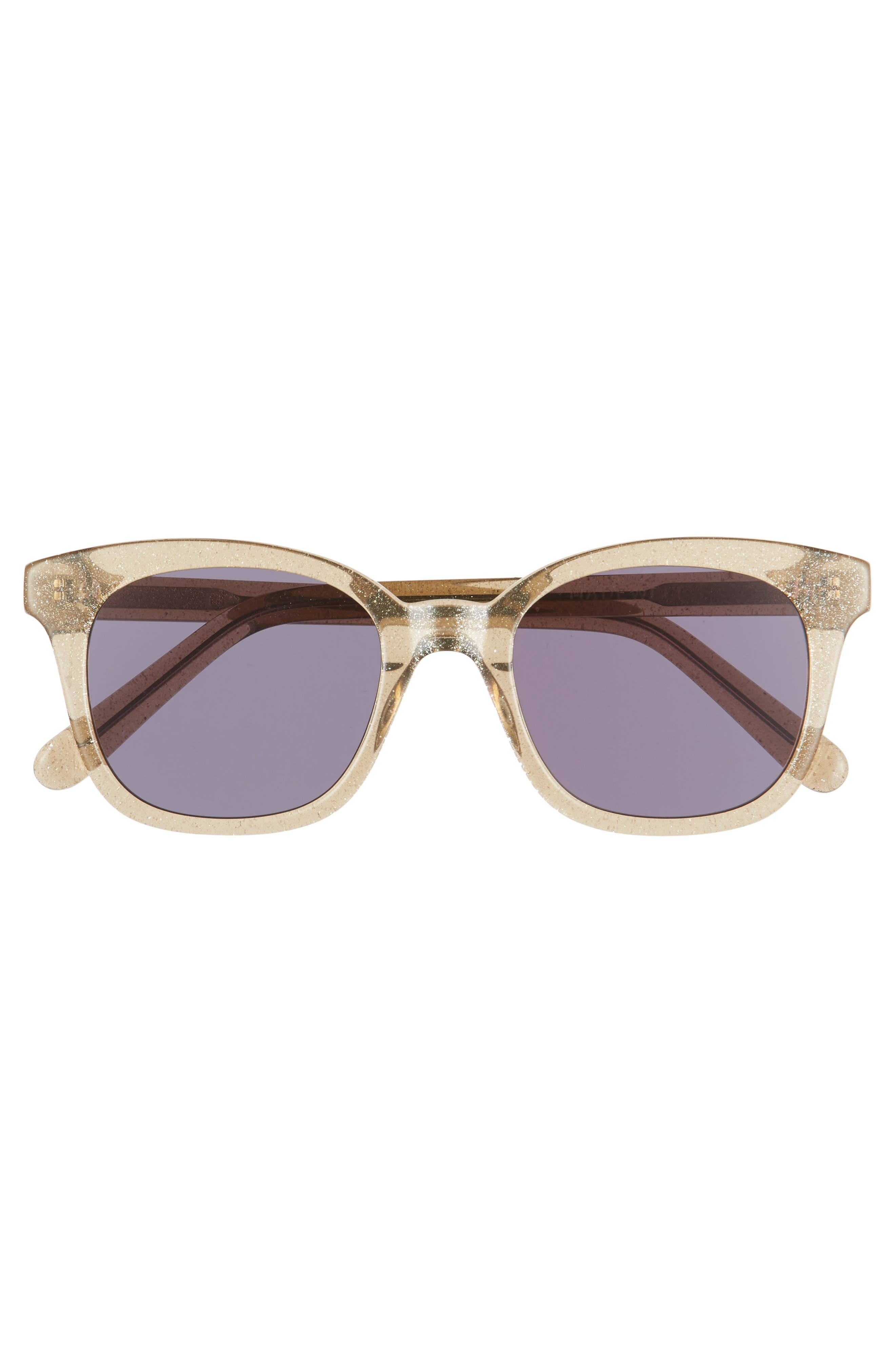MADEWELL,                             Venice 49mm Flat Frame Sunglasses,                             Alternate thumbnail 3, color,                             KRAFT BROWN/ BLACK