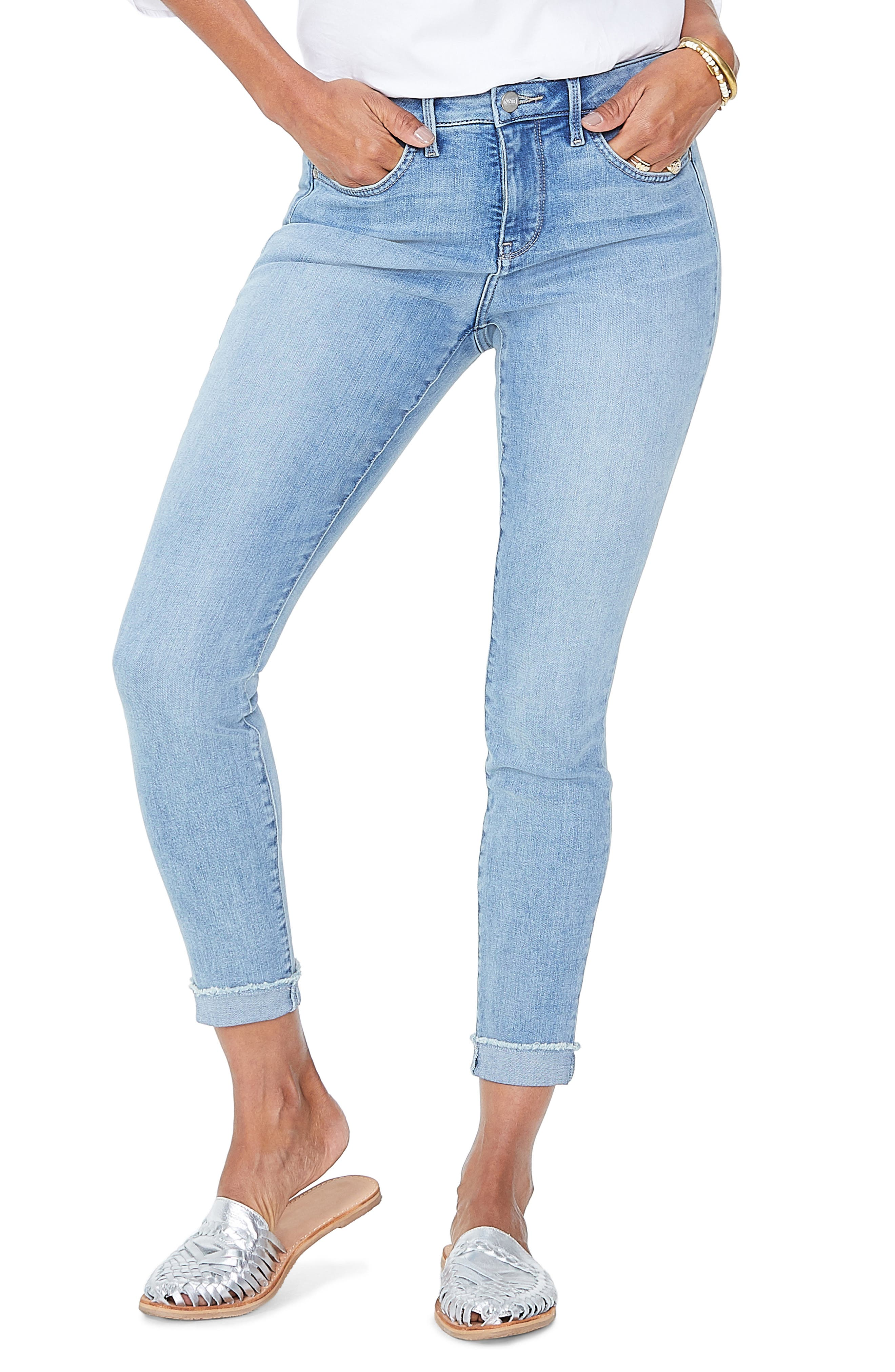 Ami Cuffed Ankle Skinny Jeans, Main, color, DREAMSTATE