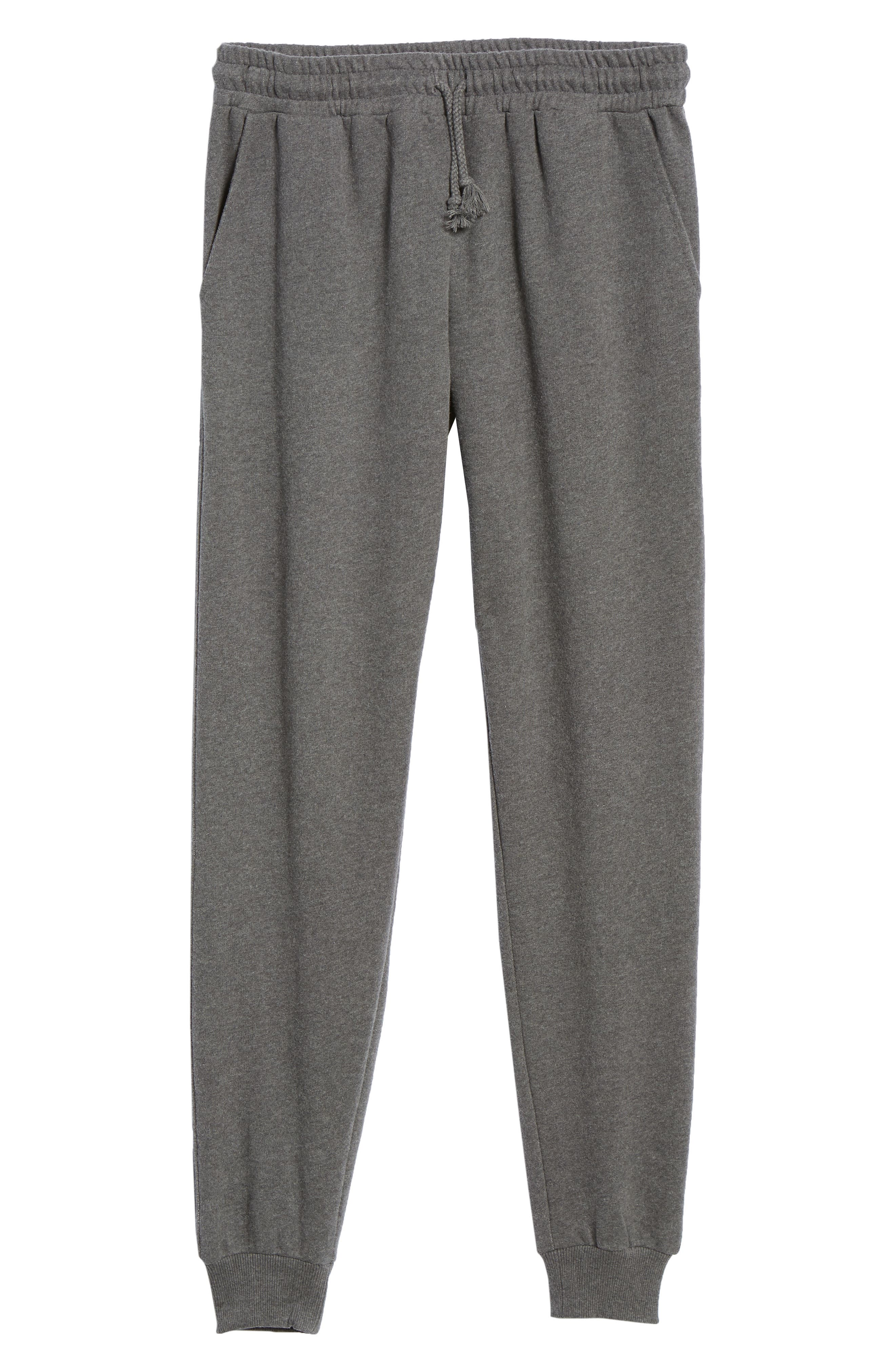KnowledgeCotton Mélange Sweatpants,                             Alternate thumbnail 6, color,                             GREY MELANGE