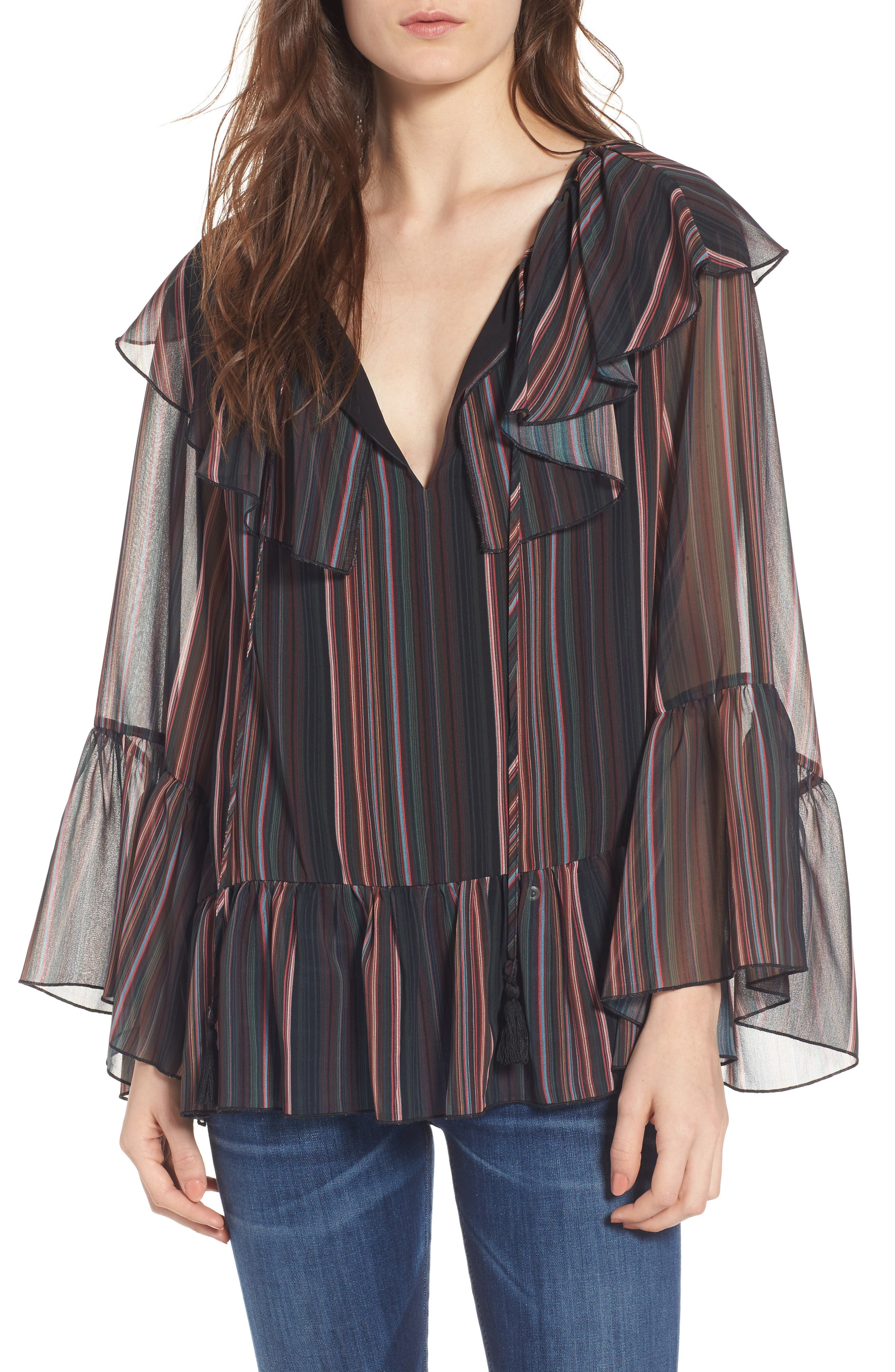 Patti Bell Sleeve Top,                             Main thumbnail 1, color,