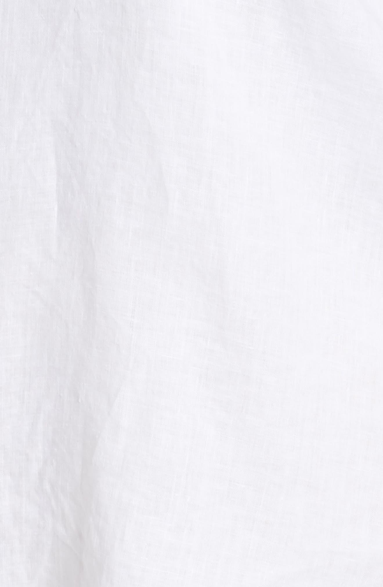 Organic Linen Shirt,                             Alternate thumbnail 6, color,                             100