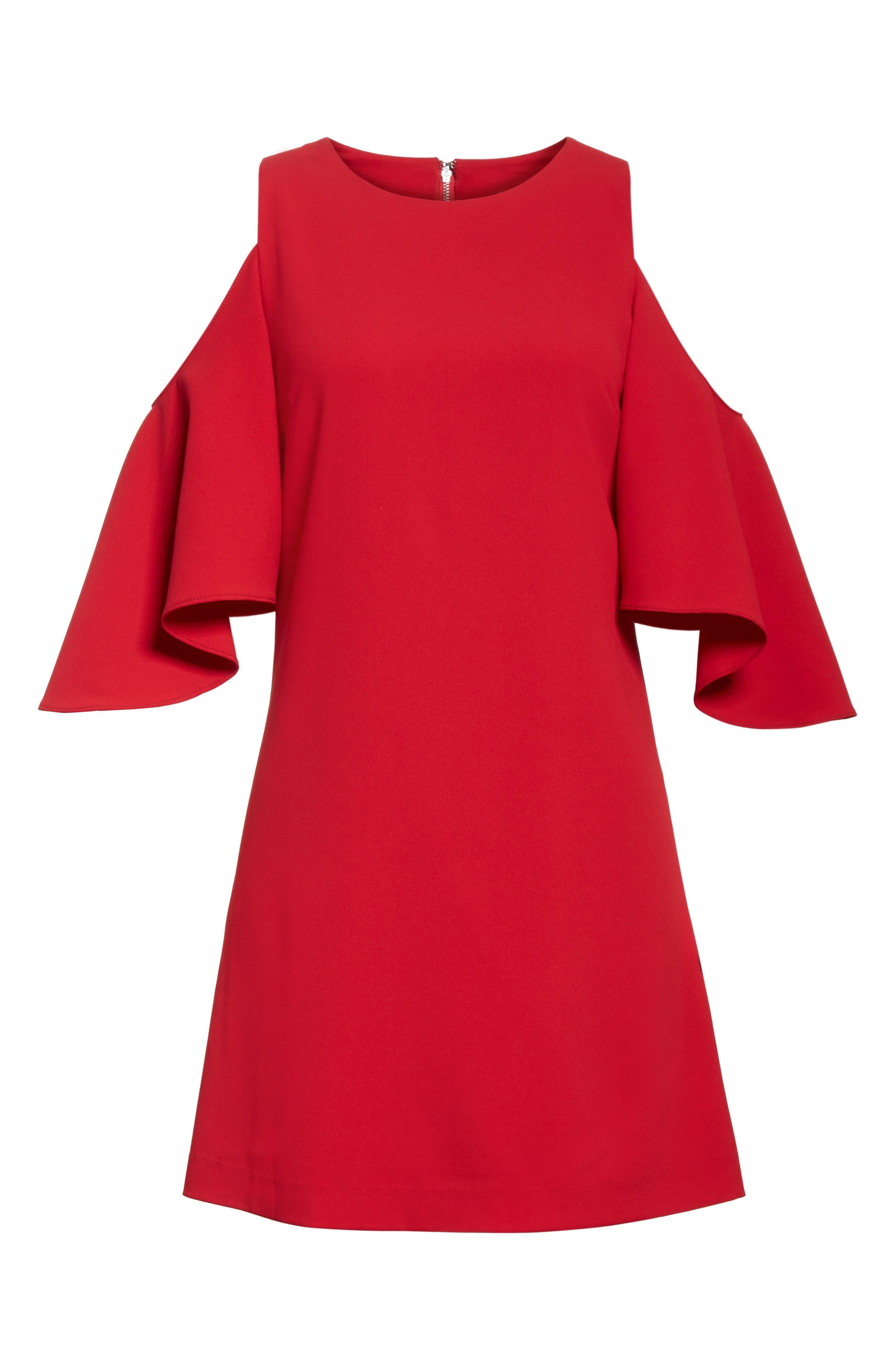 Coley Cold Shoulder A-Line Dress,                             Alternate thumbnail 6, color,                             623