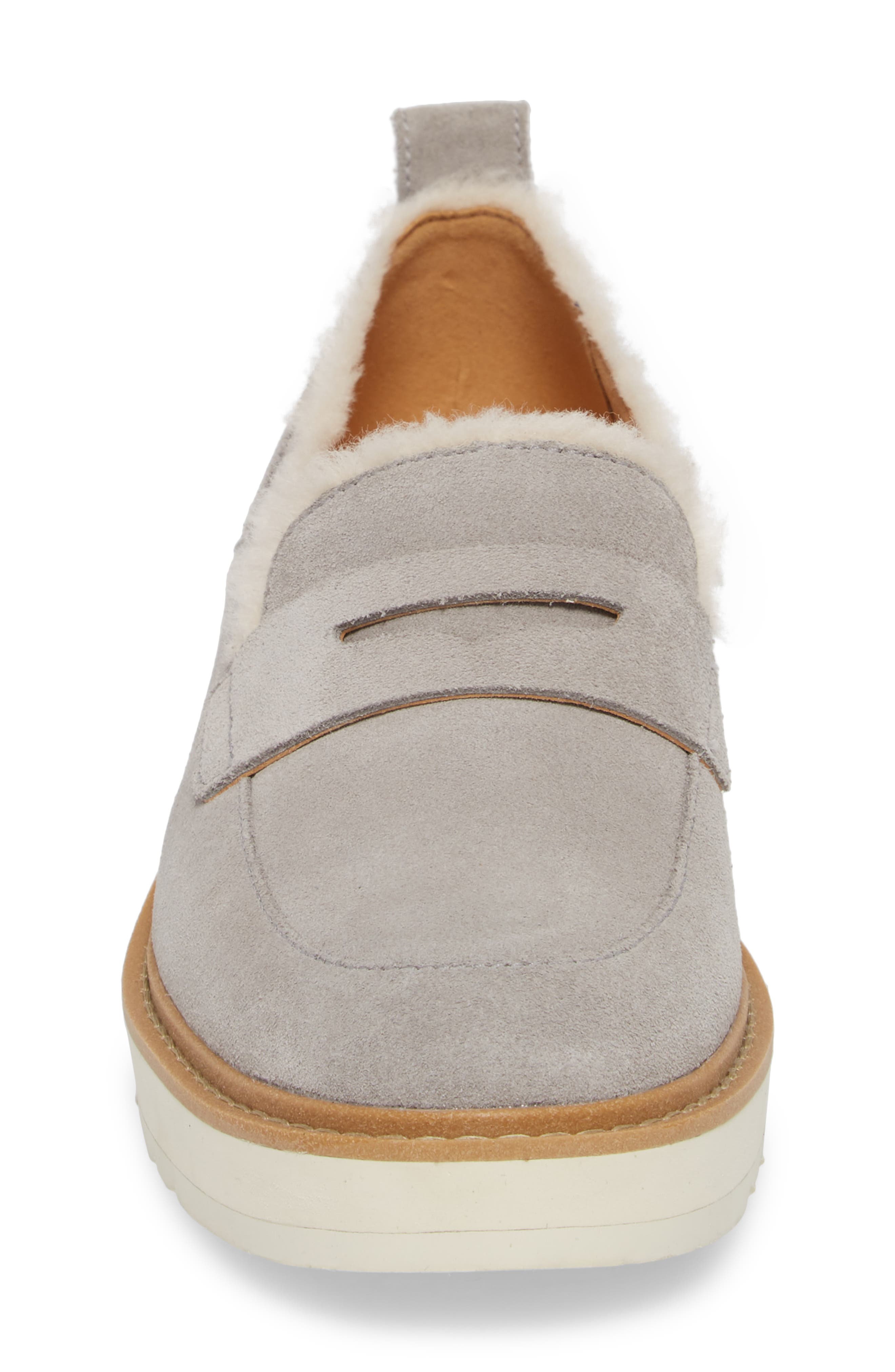 Atwater Spill Seam Wedge Loafer,                             Alternate thumbnail 4, color,                             SEAL LEATHER