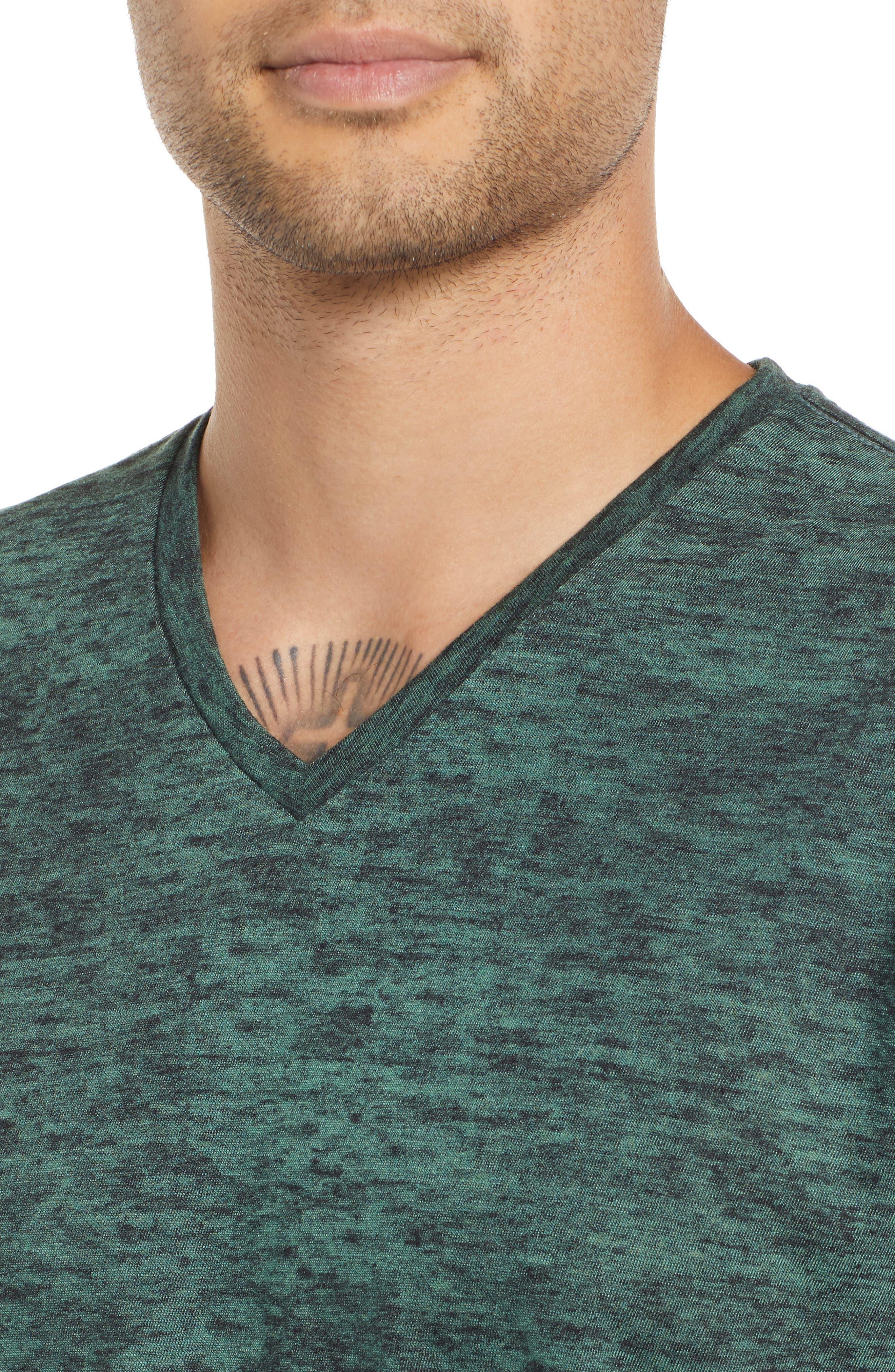 Burnout V-Neck T-Shirt,                             Alternate thumbnail 4, color,                             311