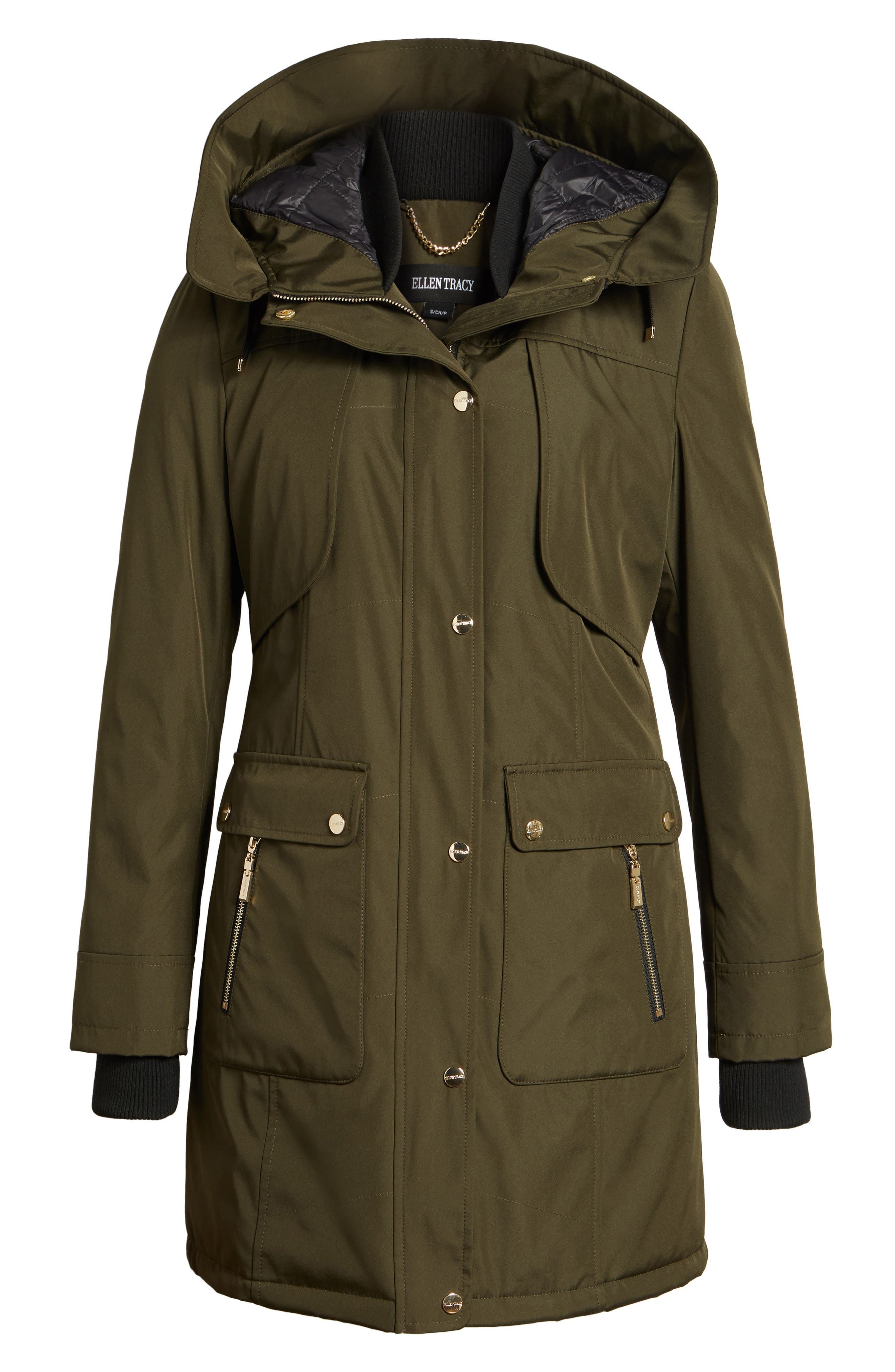 Quilted Techno Parka,                             Alternate thumbnail 9, color,